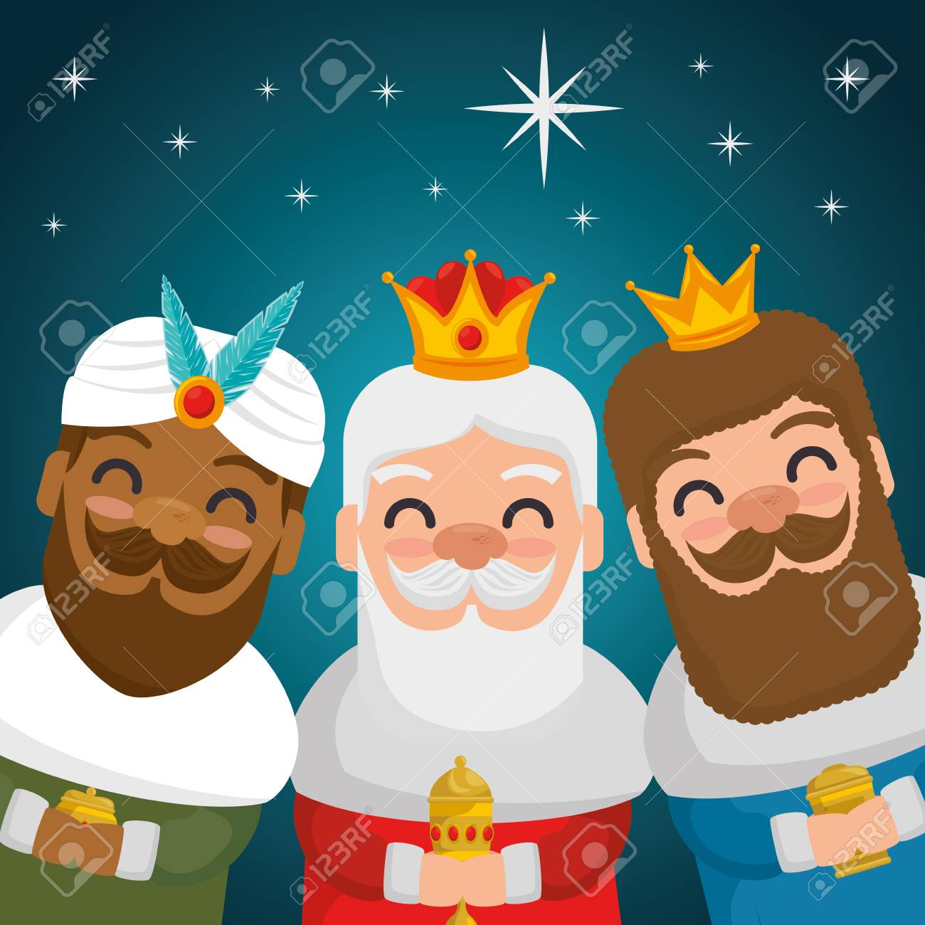 the three magic kings of orient wise men vector illustration graphic design - 90622840