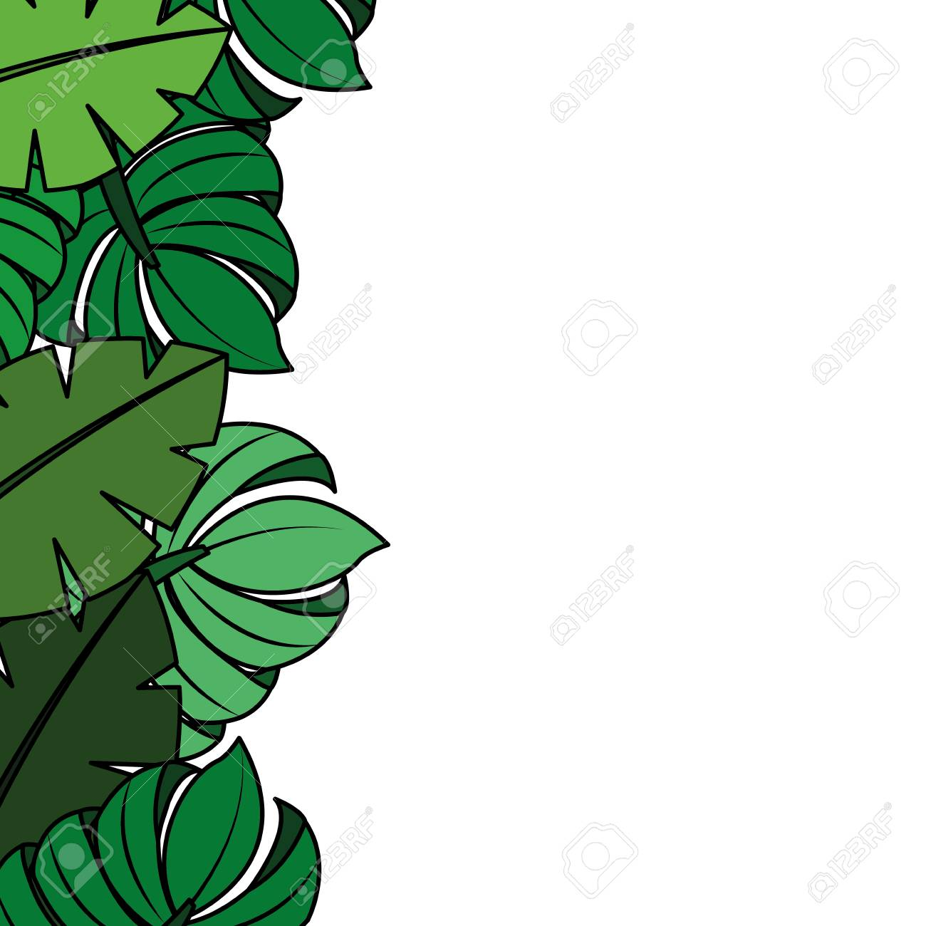 Tropical Leaves Palm Tree Border Decoration Vector Illustration Royalty Free Cliparts Vectors And Stock Illustration Image 90800811 Choose from 40+ tropical leaves border graphic resources and download in the form of png, eps, ai or psd. tropical leaves palm tree border decoration vector illustration
