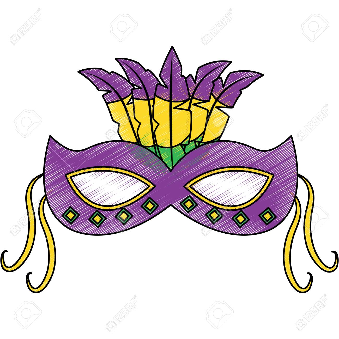ornate mardi gras carnival mask with feathers festival vector rh 123rf com mardi gras vector background mardi gras vector background