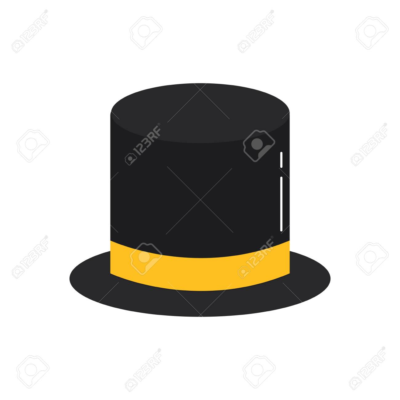 921fd79442a21 top hat accessory elegance fashion vector illustration Stock Vector -  91211145
