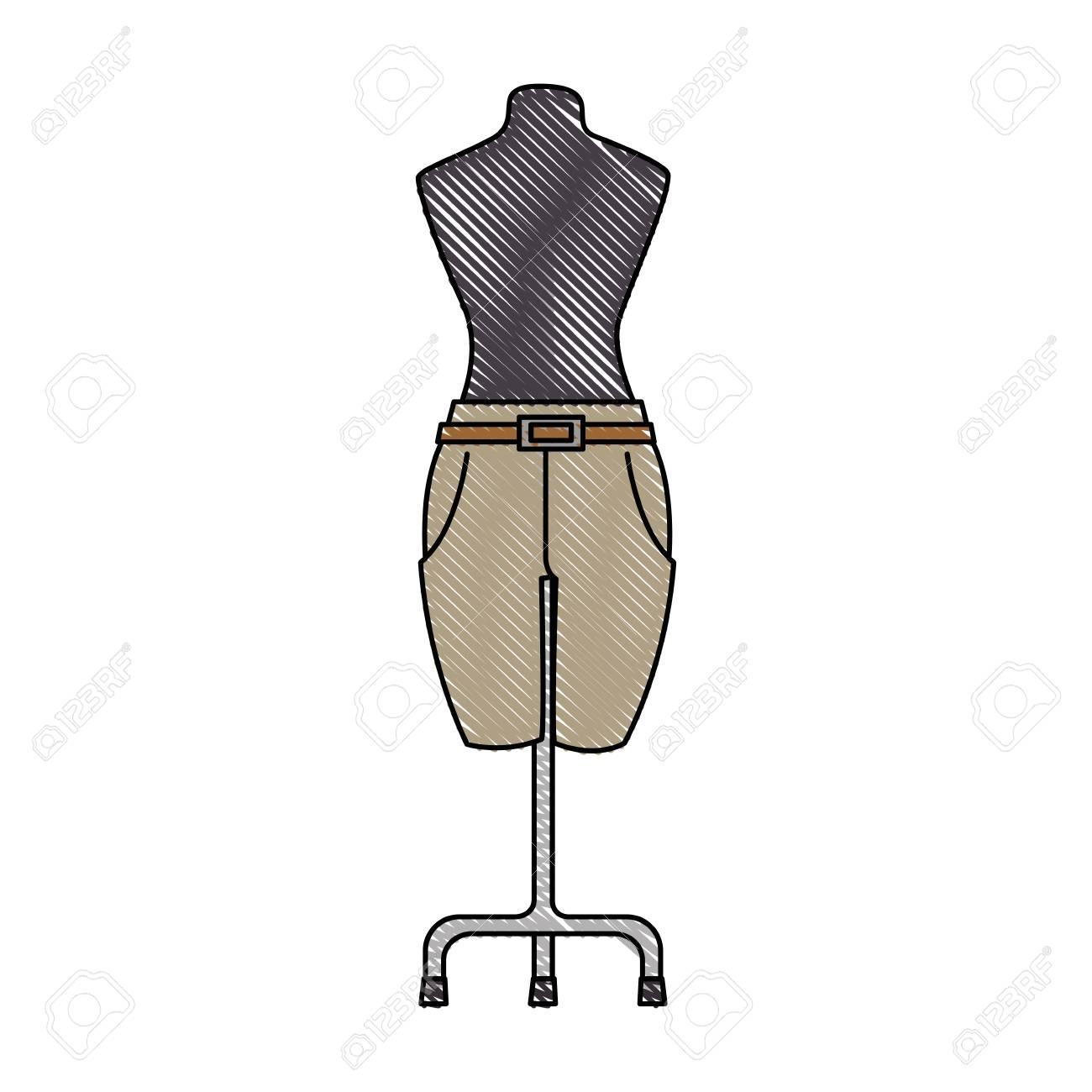 Pantalones Elegantes Para Mujeres En Diseno De Ilustracion De Vector De Maniqui Ilustraciones Vectoriales Clip Art Vectorizado Libre De Derechos Image 91237435