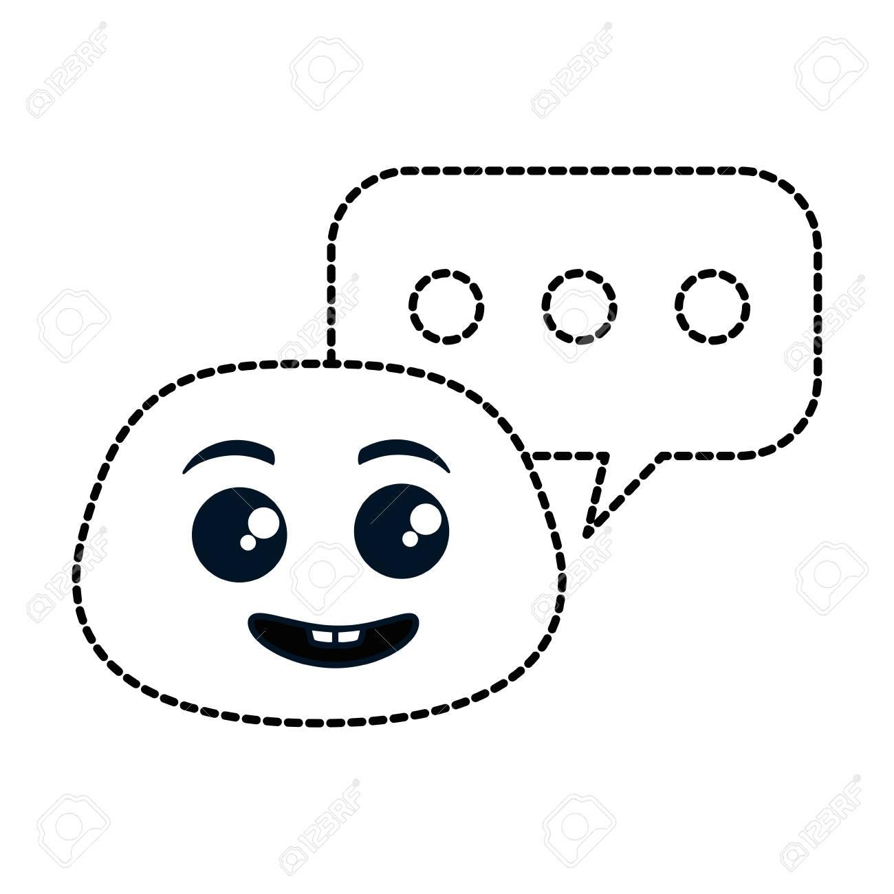 nerd emoji face with speech bubble vector illustration design