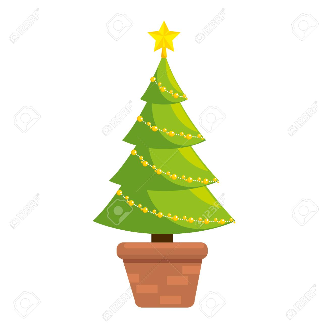 christmas tree isolated icon vector illustration design - 91394972