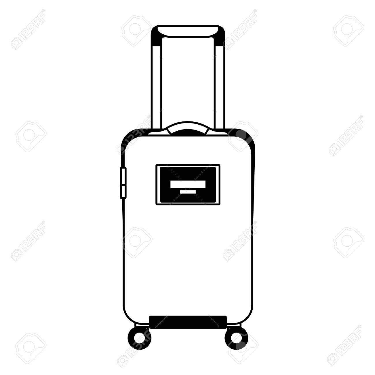 4c5b718be460 travel suitcase with retractable handle and wheels luggage vector..
