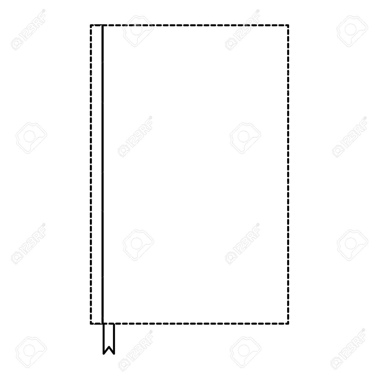 notebook with bookmark template blank corporate stationery diary