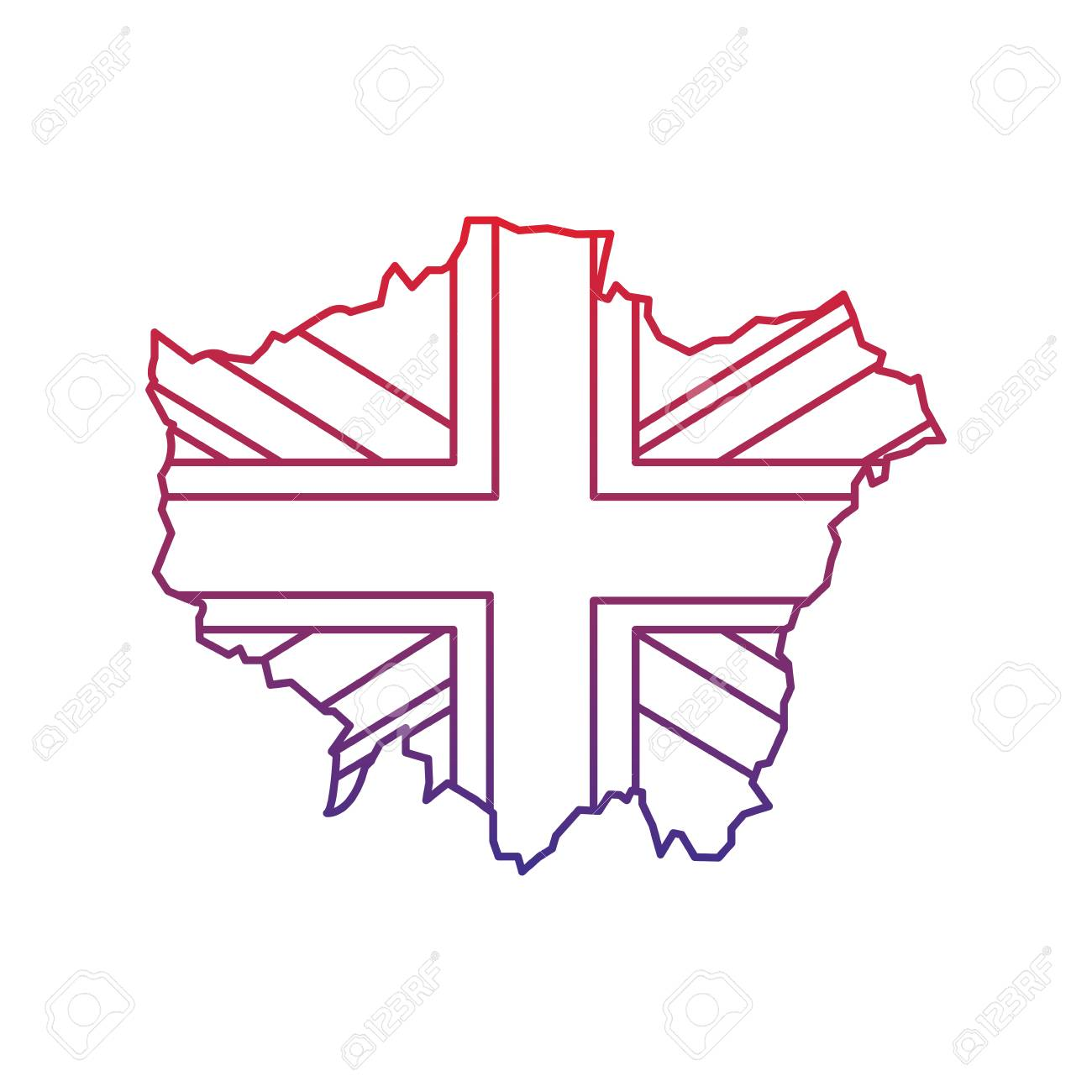 Flag And Map Of London United Kingdom Icon Image Vector ...