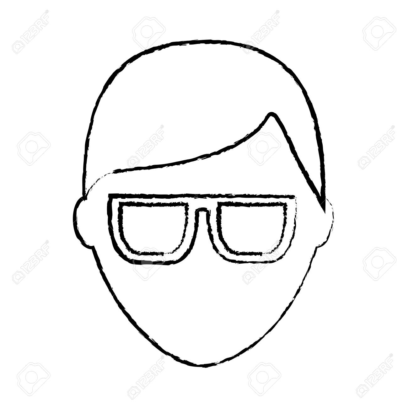 man with glasses avatar icon image vector illustration design