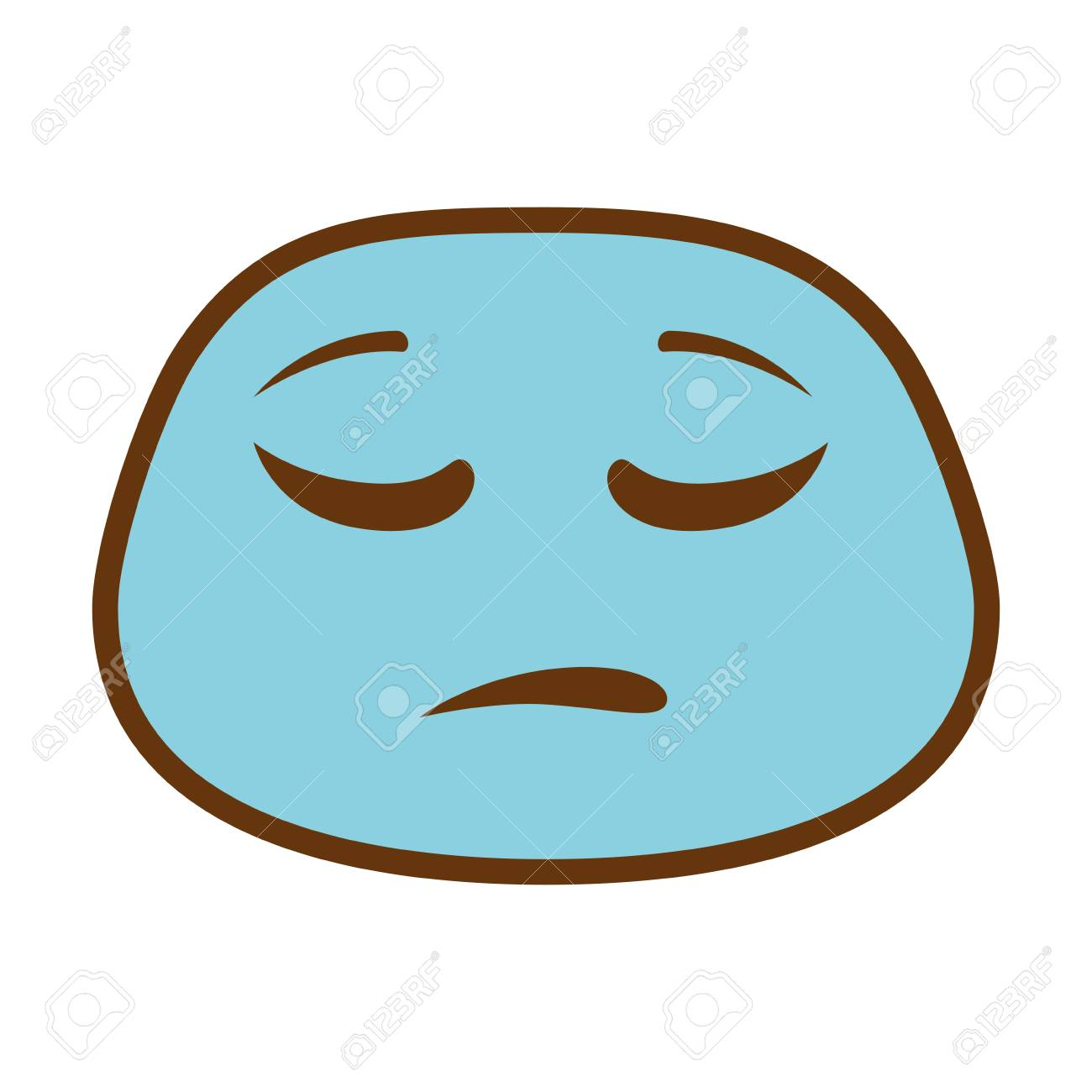 sad face emoji character vector illustration design royalty free