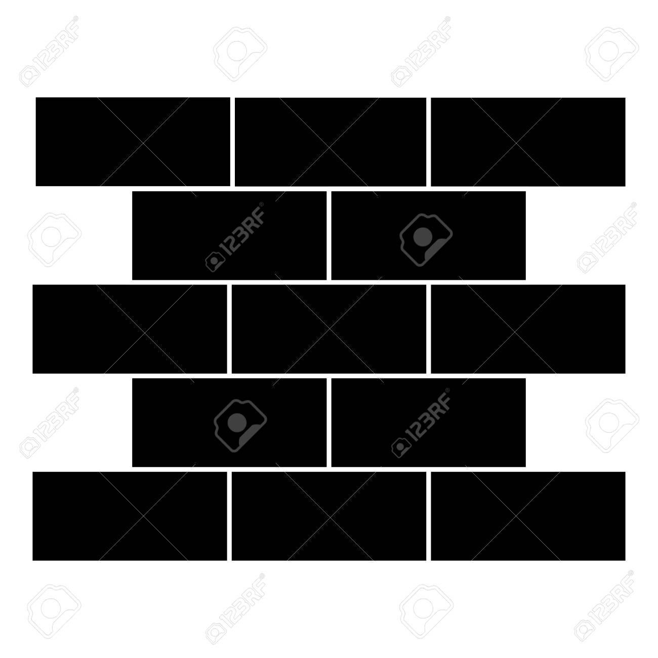 bricks wall pile icon vector illustration design - 92437266