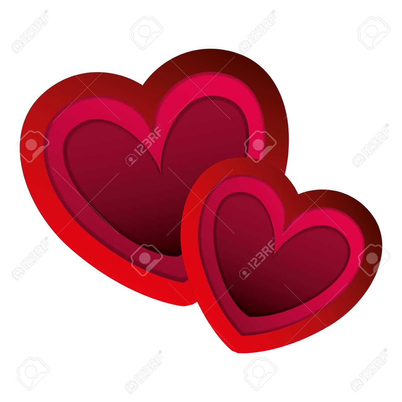 two hearts love card vector illustration design Stock Vector - 93121277