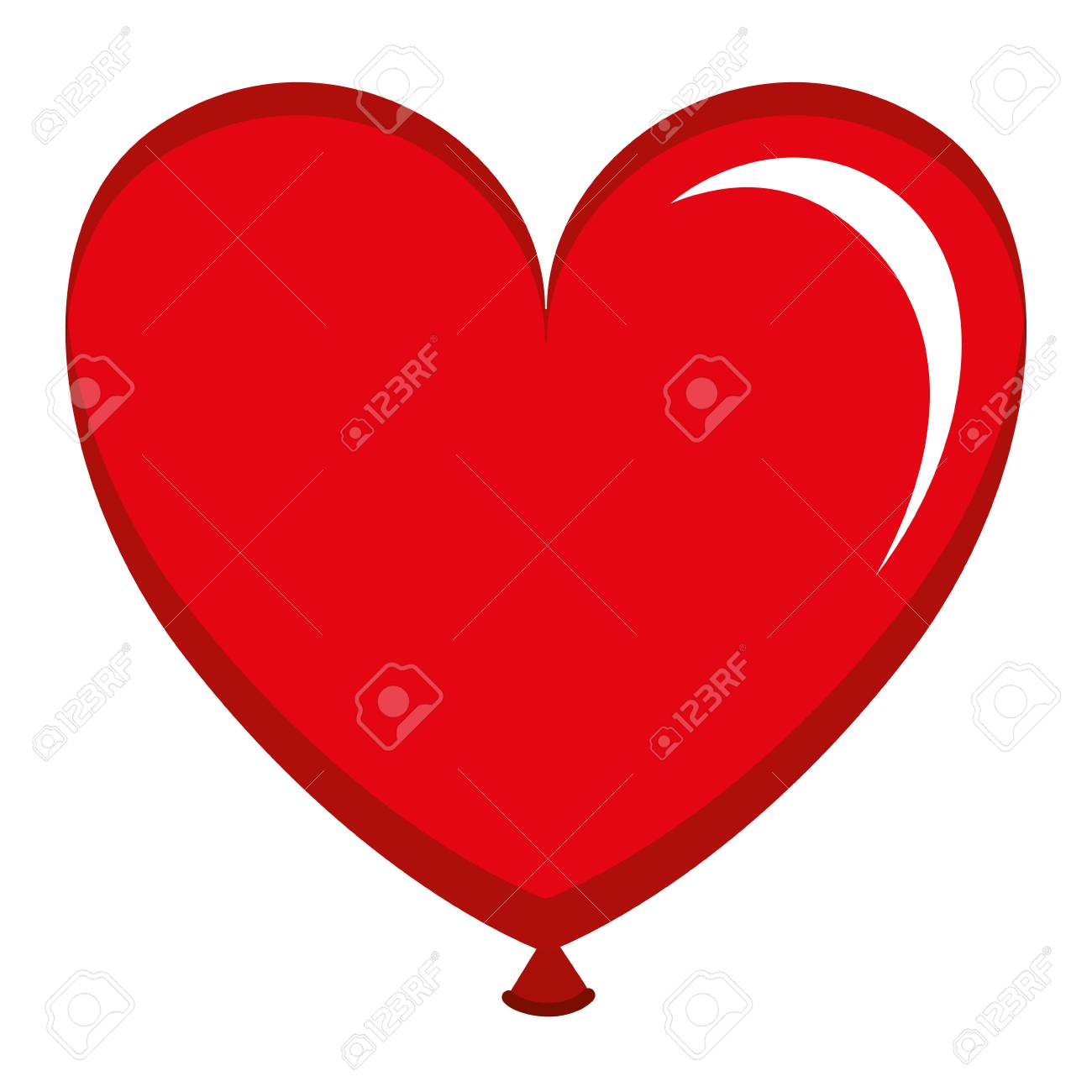 balloon air with heart shape vector illustration design royalty free rh 123rf com heart shape vector free heart shaped vector free