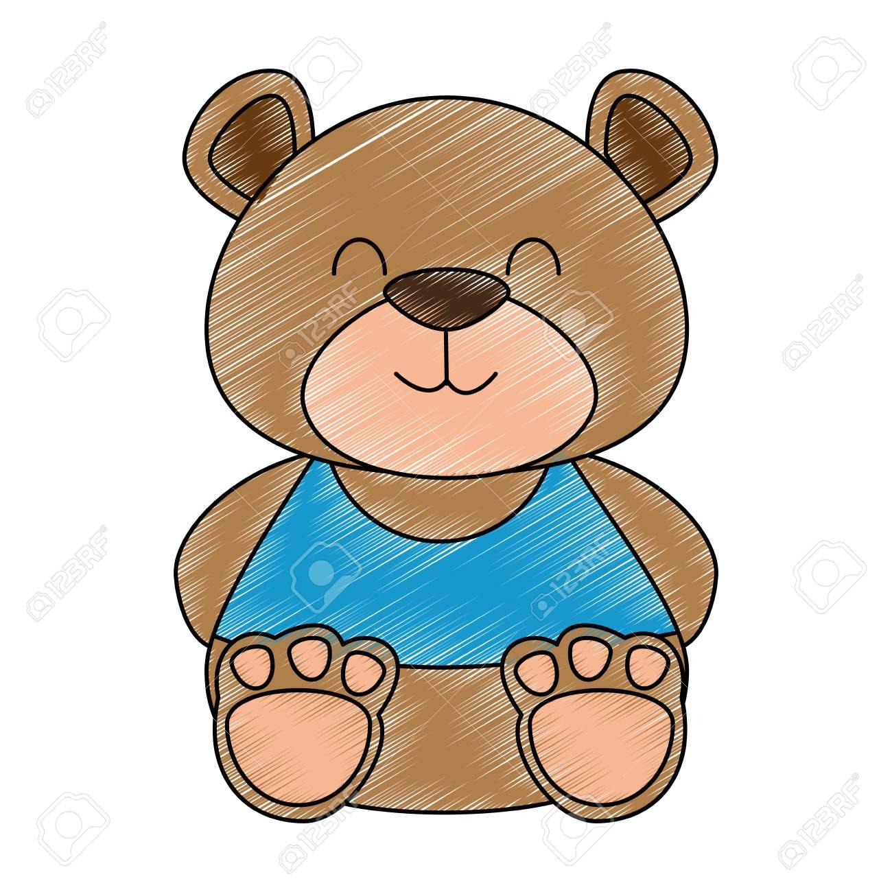 Cute Teddy Bear Icon Vector Illustration Design Royalty Free