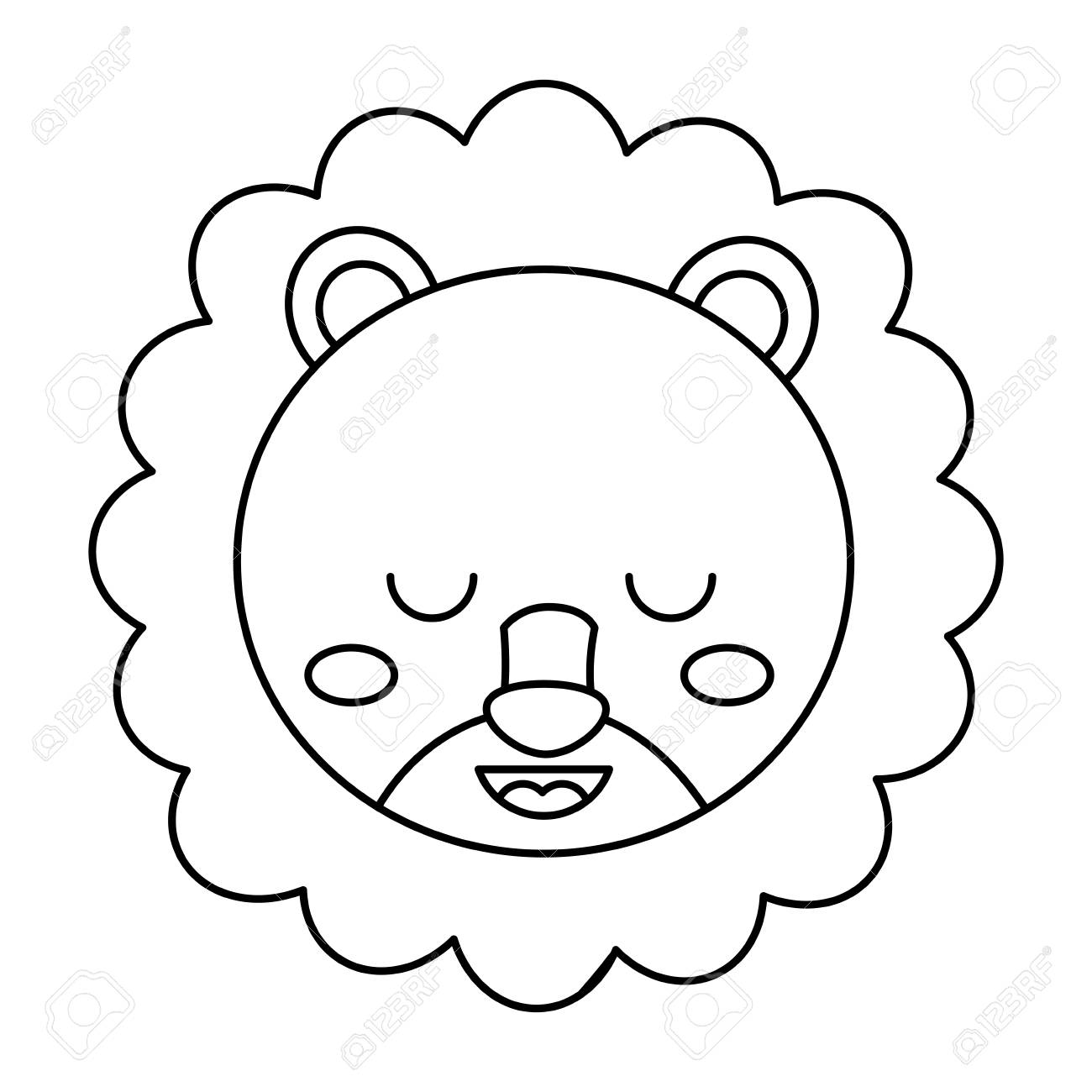 Cute Head Lion Animal Close Eyes Cartoon Vector Illustration Royalty Free Cliparts Vectors And Stock Illustration Image 93474778 Find over 100+ of the best free lion eyes images. cute head lion animal close eyes cartoon vector illustration