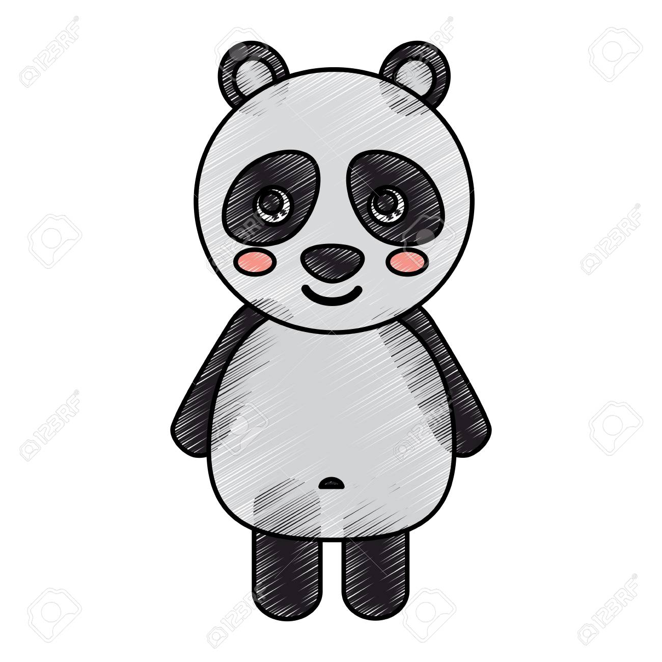 Panda Cute Animal Icon Image Vector Illustration Design Sketck