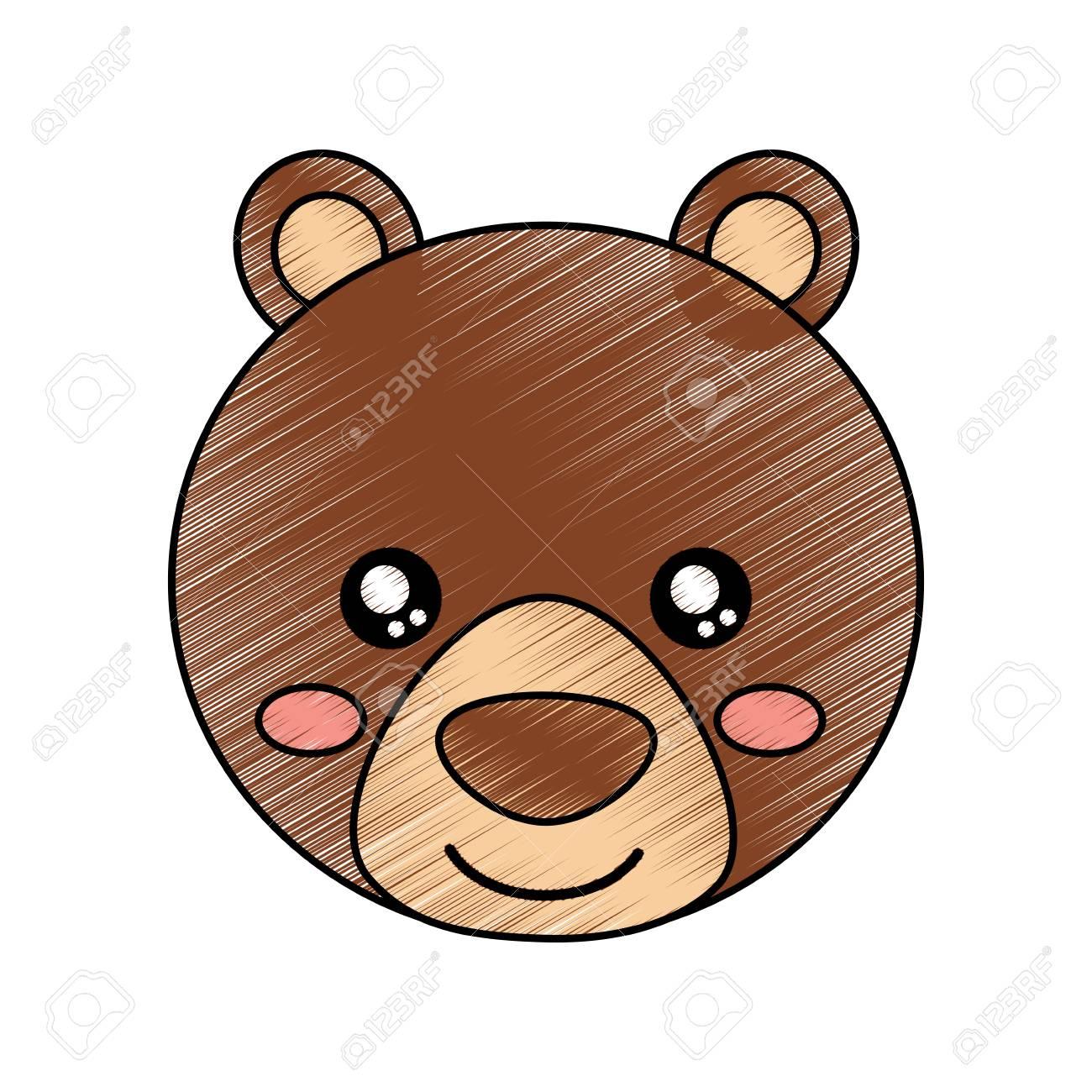Cute Animal Bear Head Baby Vector Illustration Drawing Design Royalty Free Cliparts Vectors And Stock Illustration Image 93437011