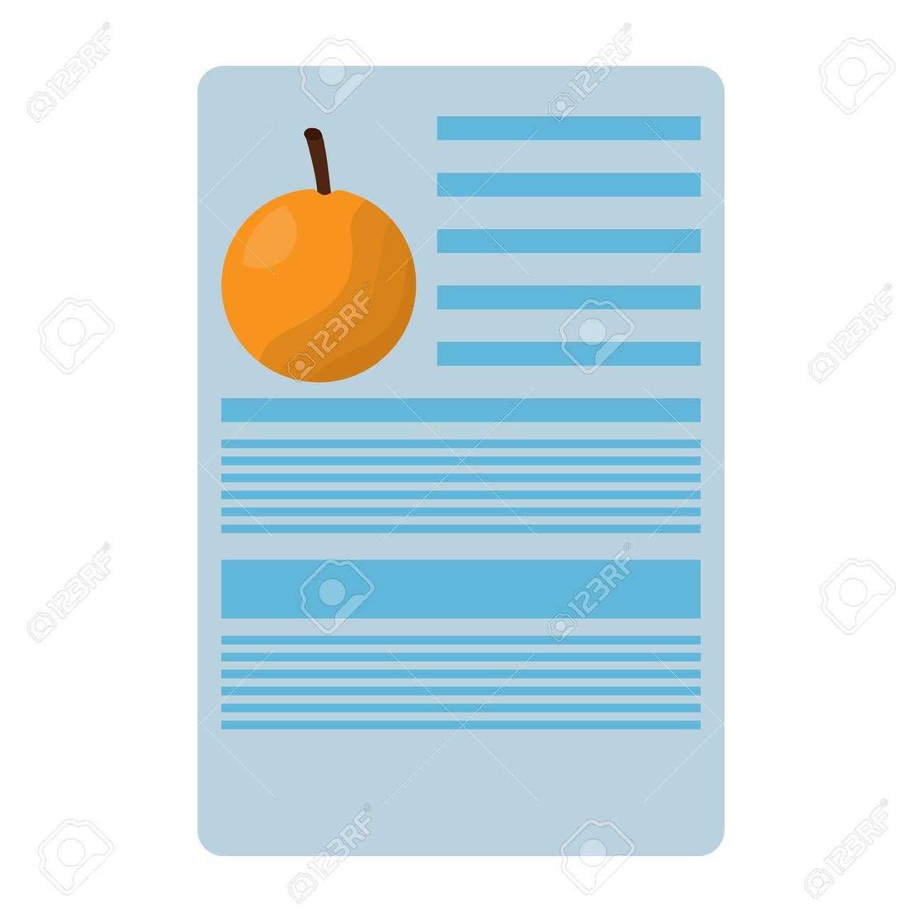 orange nutrition facts label template vector illustration royalty