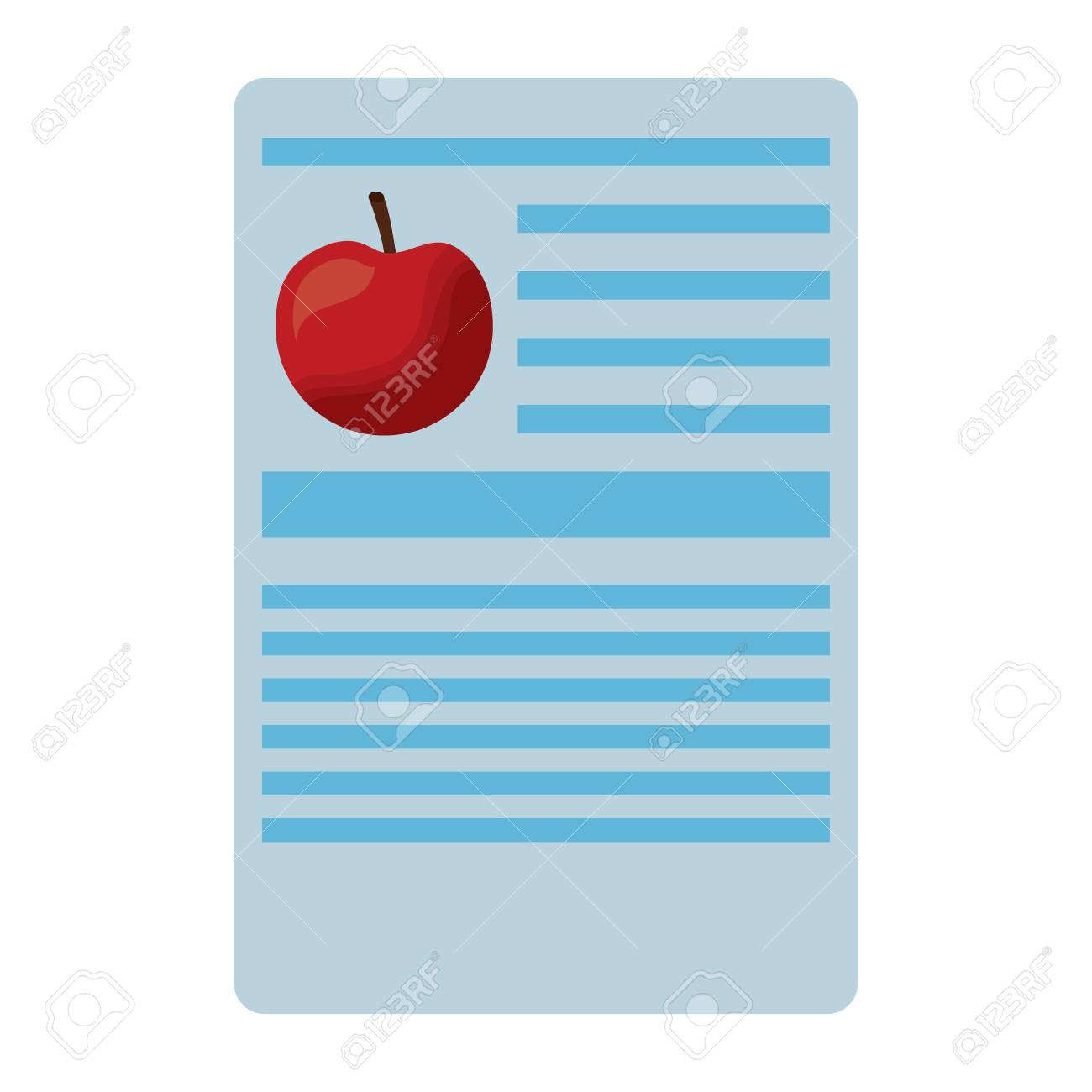 apple nutrition facts label template vector illustration royalty