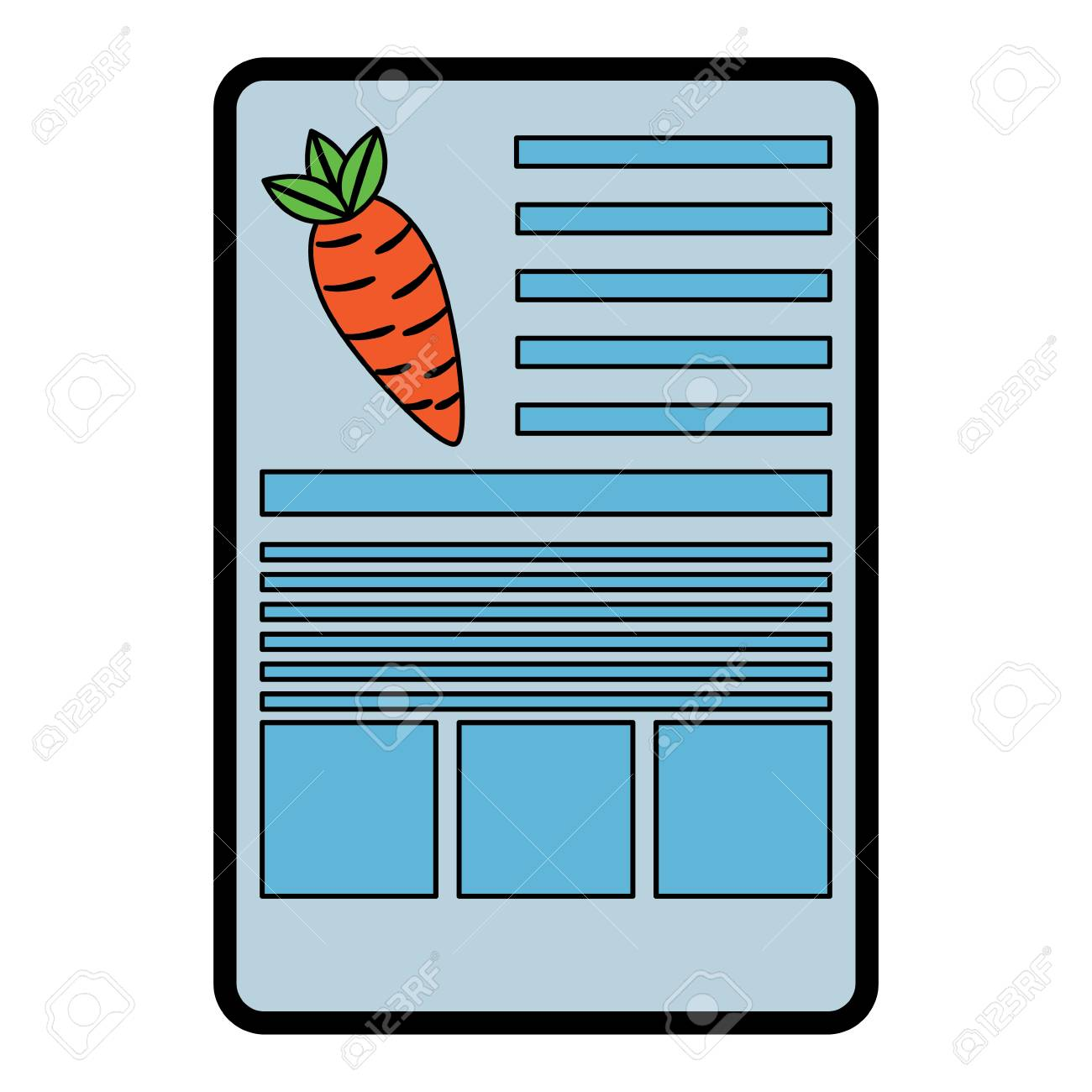 carrot nutrition facts label template vector illustration royalty
