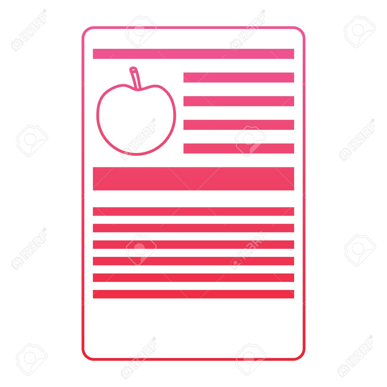 Apple Nutrition Facts Label Template Vector Illustration Red Royalty Free Cliparts Vectors And Stock Illustration Image 93505985