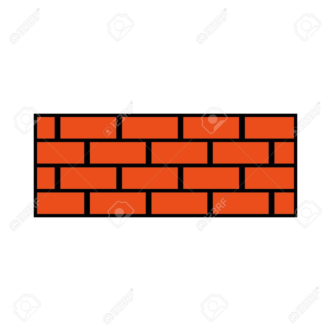 Brick wall construction concret image vector illustration - 93597150