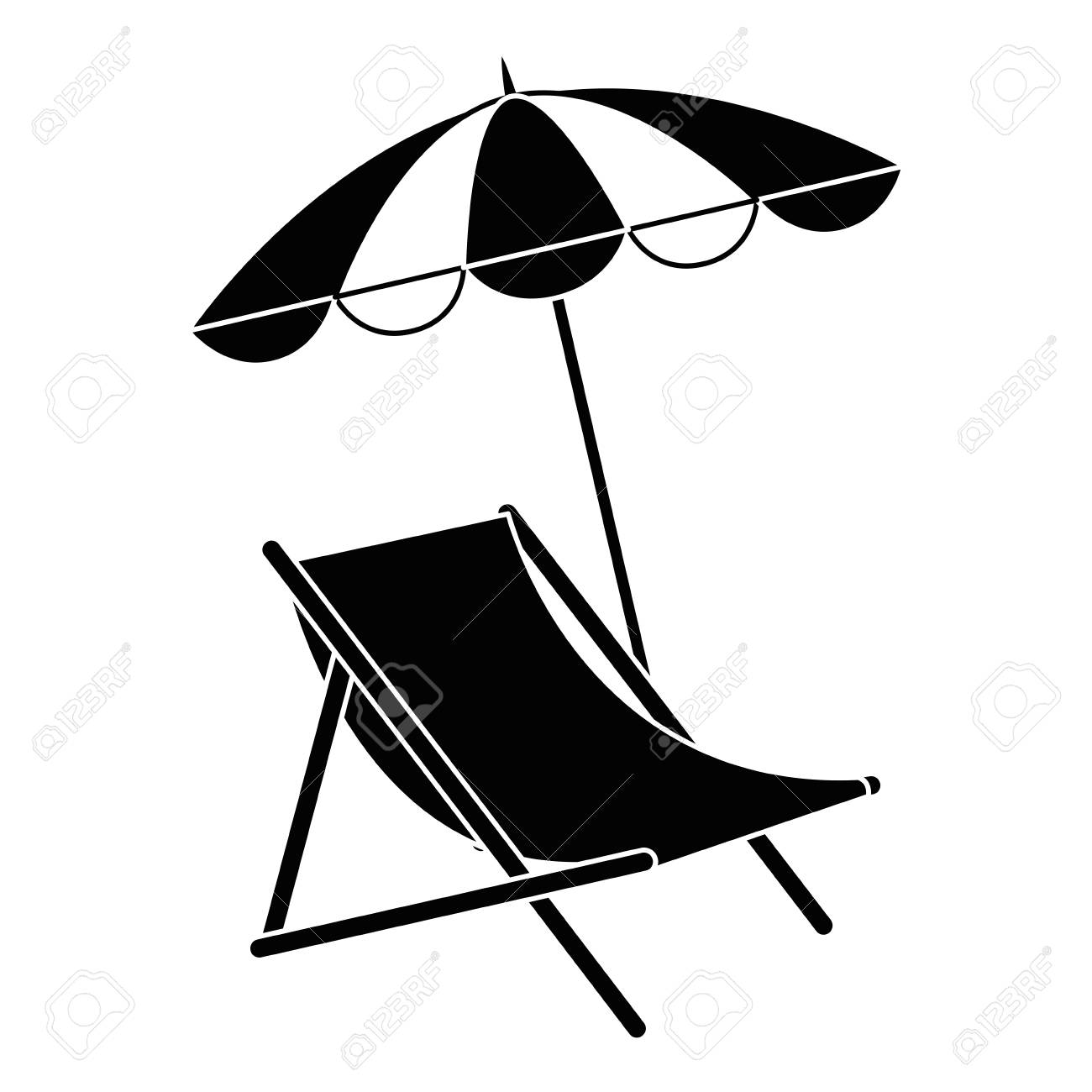 Prime Beach Chair With Umbrella Vector Illustration Design Gmtry Best Dining Table And Chair Ideas Images Gmtryco