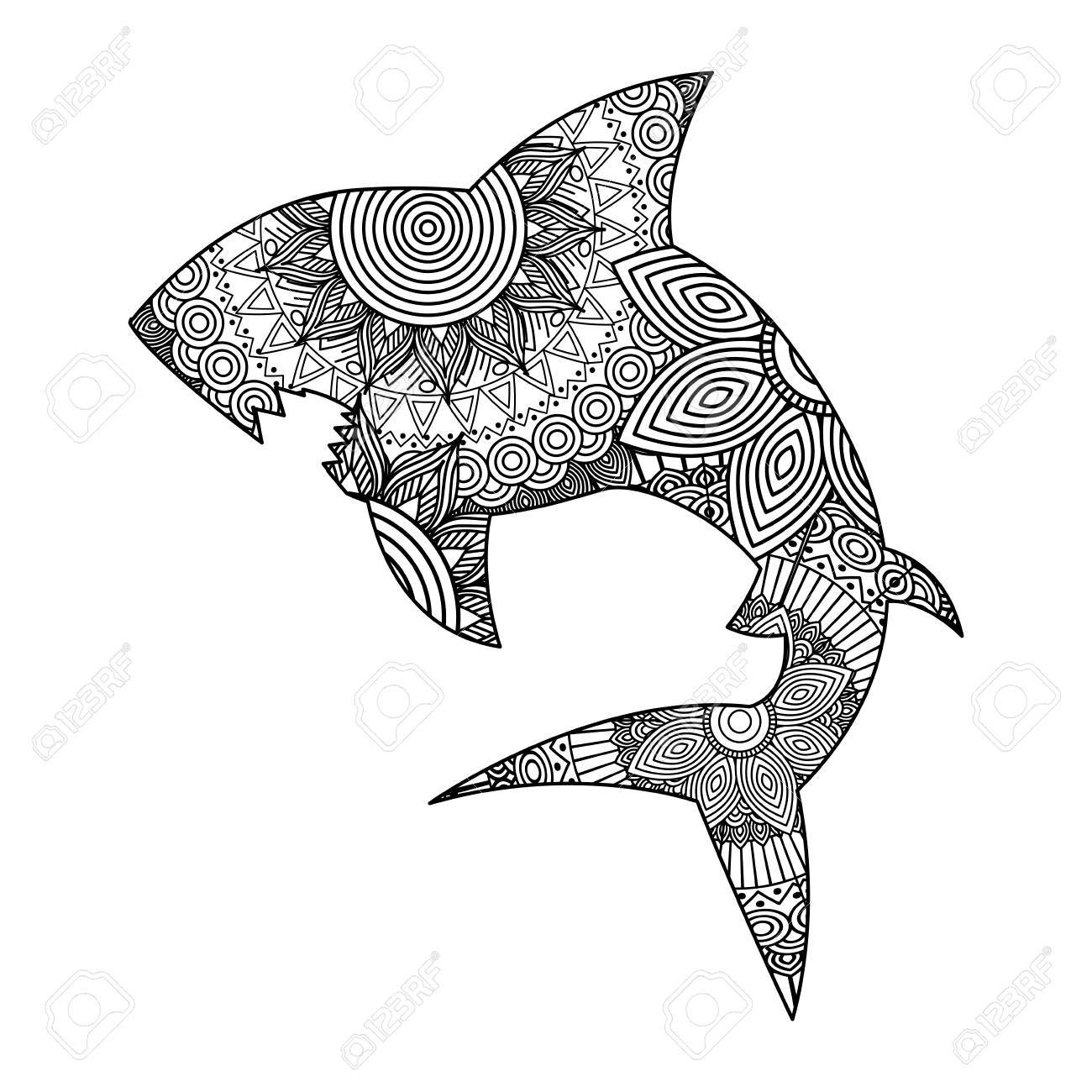 Free Printable Shark Tale Coloring Pages With Download Clipart ... | 1300x1300