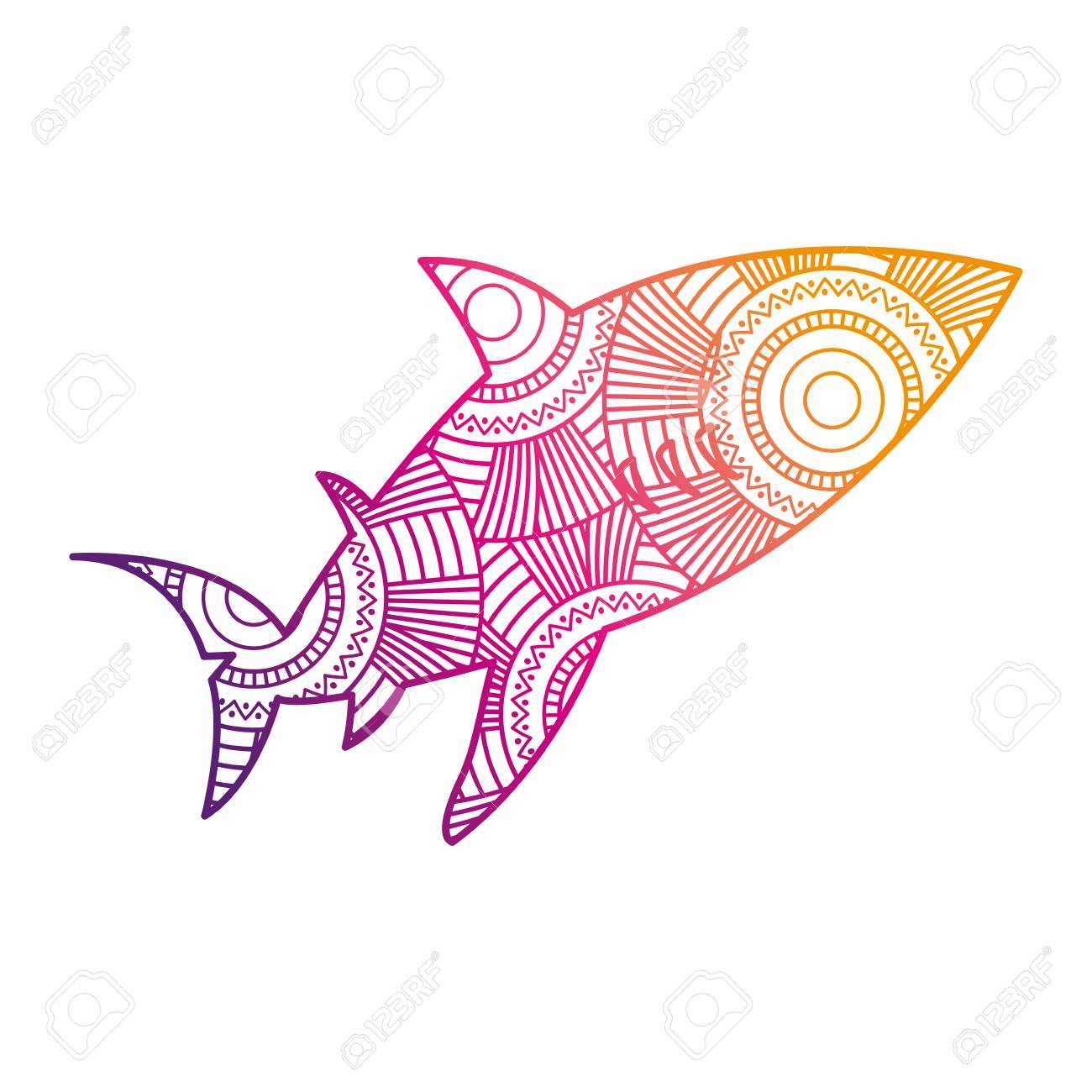 funky fish color pages elaboration pink coloring sheet