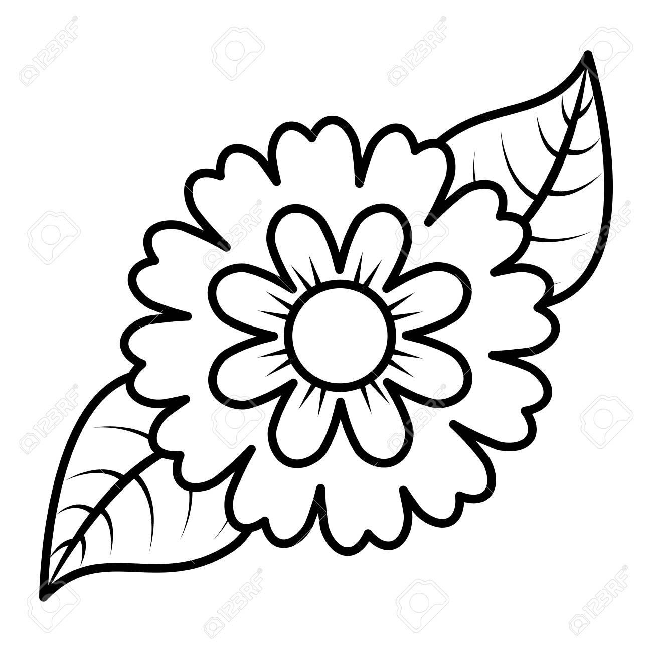 flower and leaves floral botanical natural spring image vector rh 123rf com