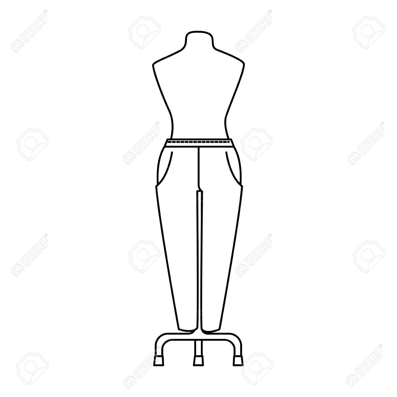 Pantalones Elegantes Para Mujeres En Maniqui Ilustracion Vectorial De Diseno Ilustraciones Vectoriales Clip Art Vectorizado Libre De Derechos Image 94113018