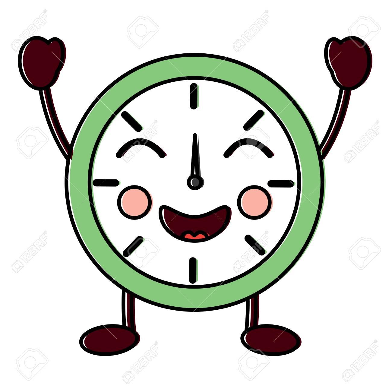 Ilustración Animados Cómic Reloj Diseño Carácter Dibujos Vectorial De Alarma shrBQxtdC