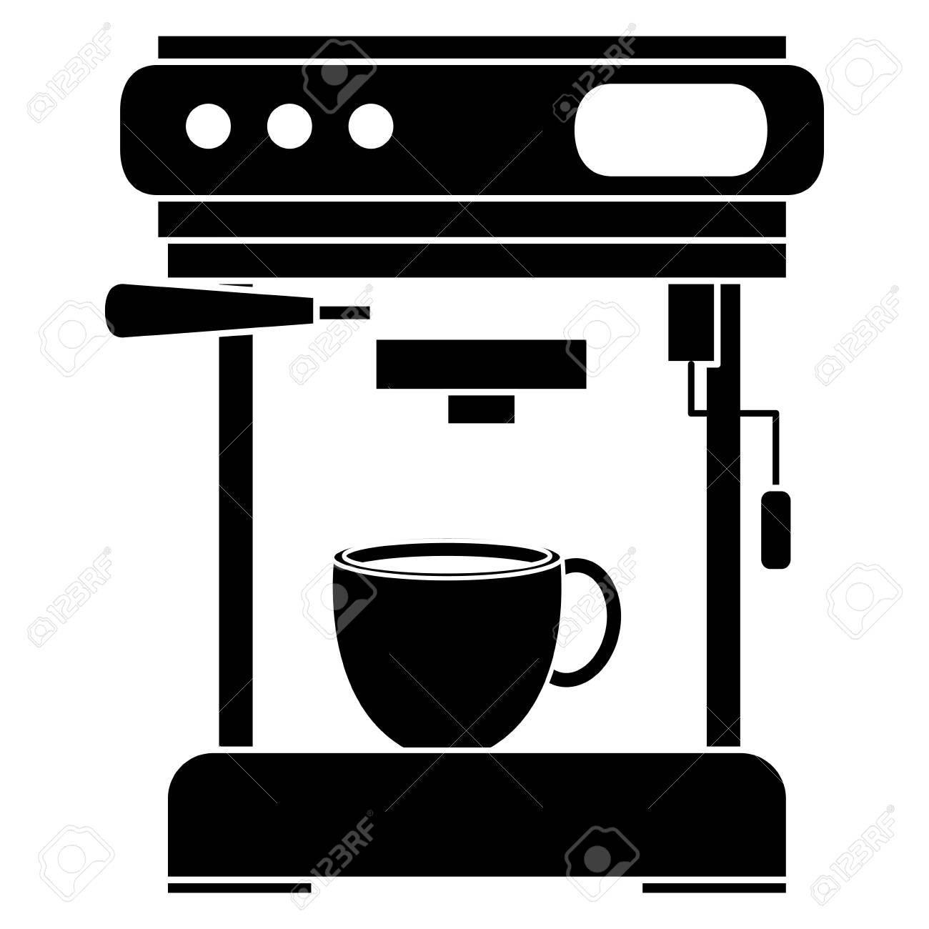 Coffee Machine Isolated Icon Vector Illustration Design Royalty Free Cliparts Vectors And Stock Illustration Image 94145264