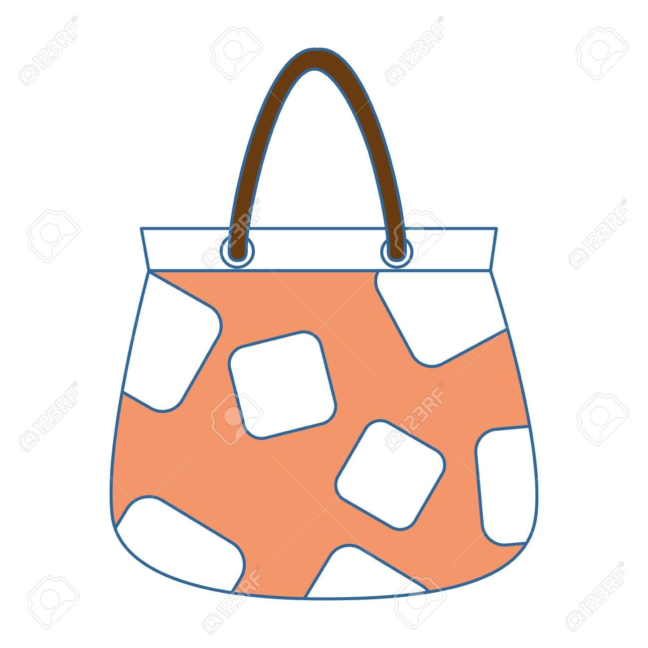 Femme sac à main icône isolé illustration vectorielle conception