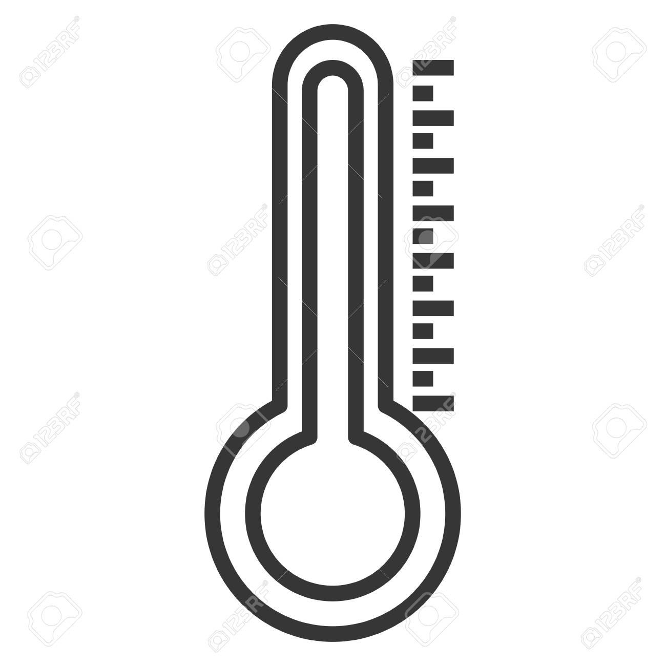 Thermometer measure temperature icon vector illustration design - 94612563