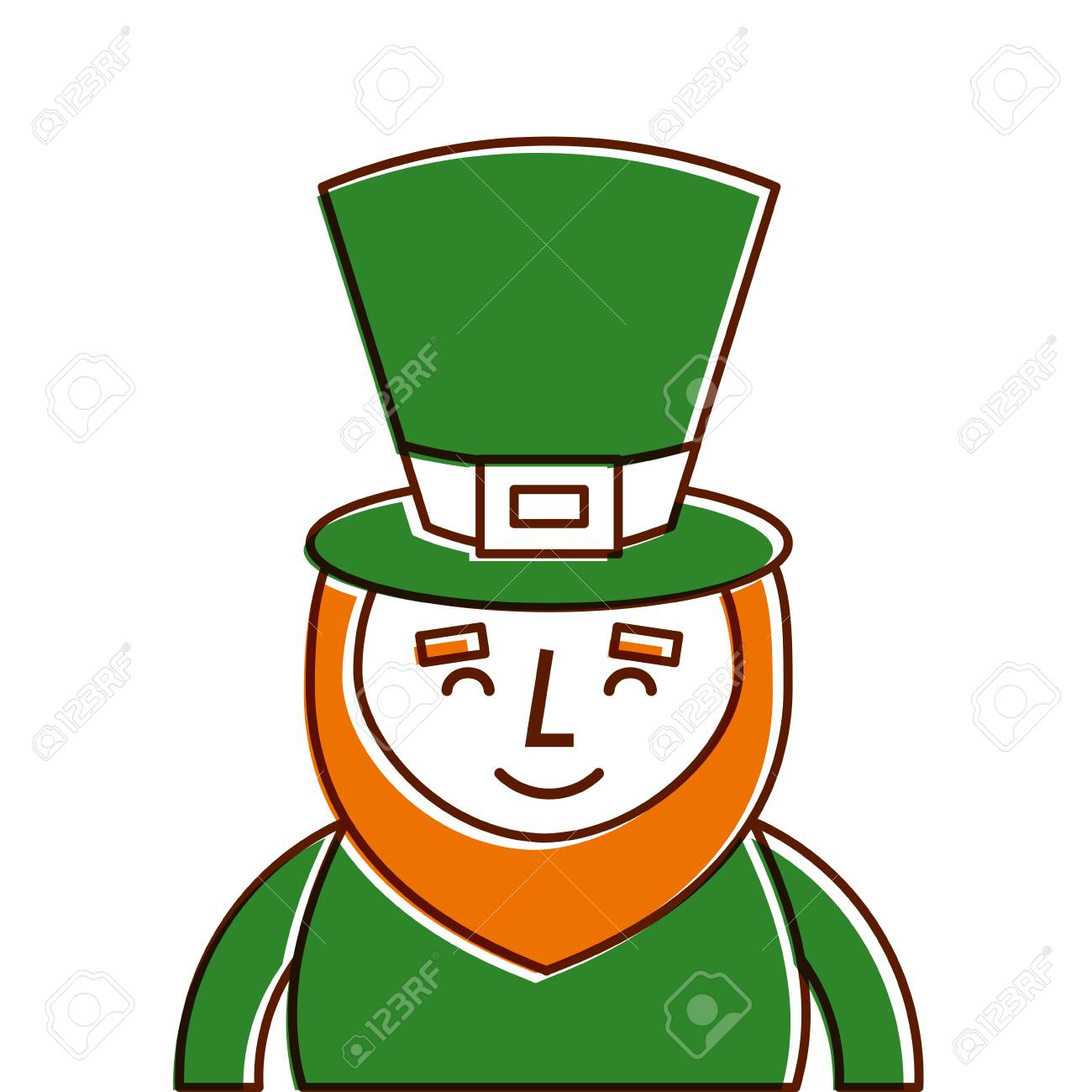 st patricks day portrait of a smiling leprechaun vector rh 123rf com leprechaun vector png leprechaun vector graphics