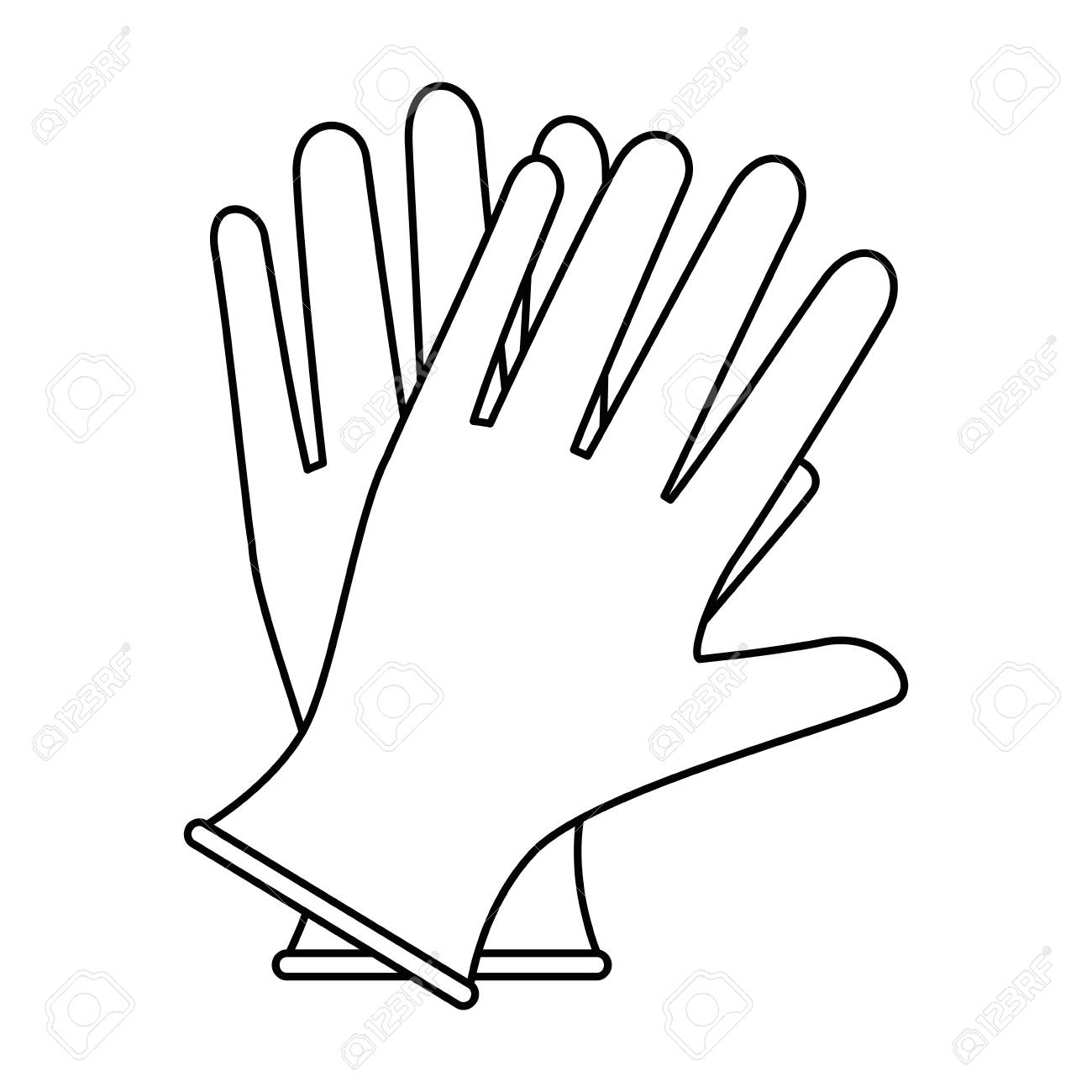 Surgical gloves isolated icon vector illustration design. - 95177628