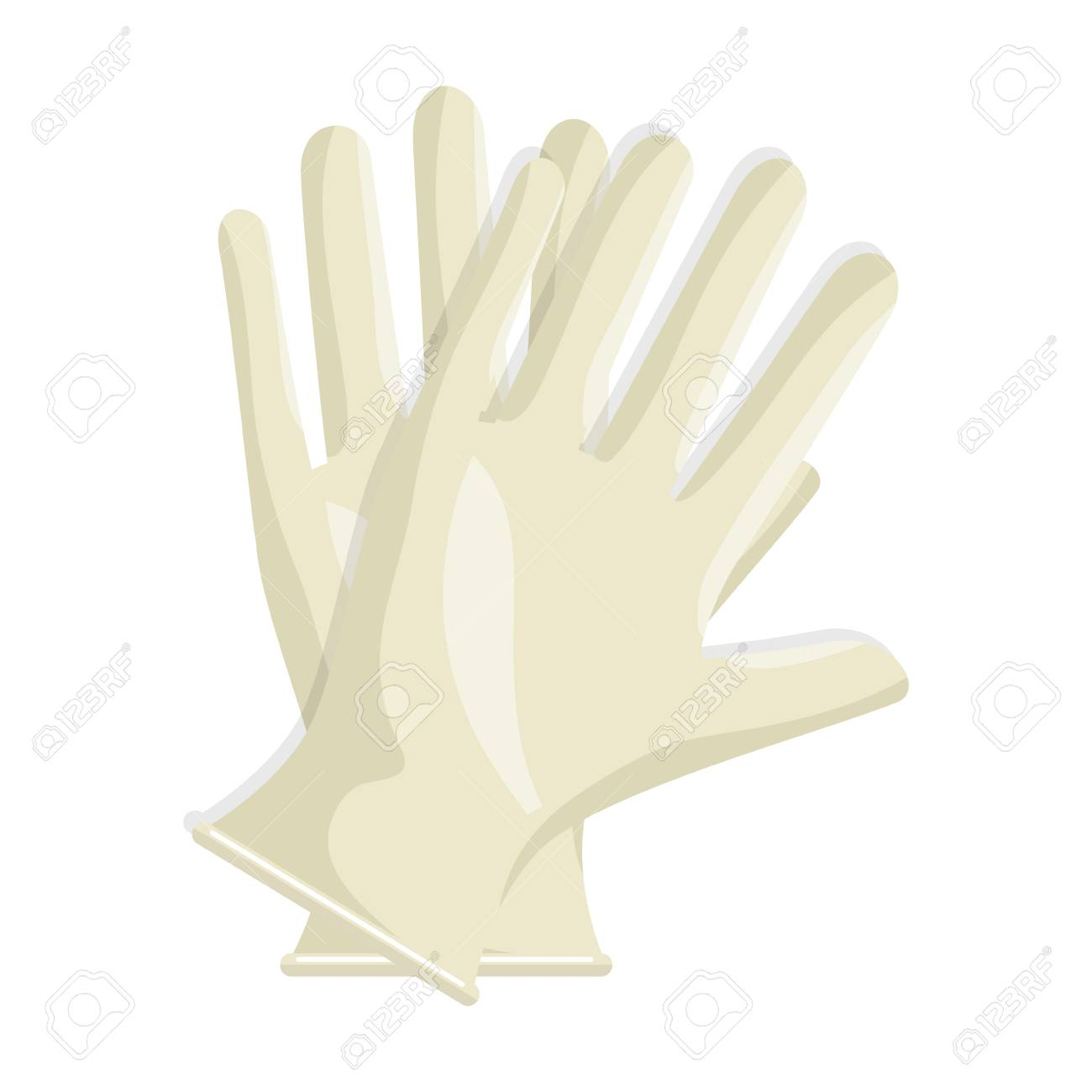 Surgical gloves isolated icon vector illustration design - 95303254