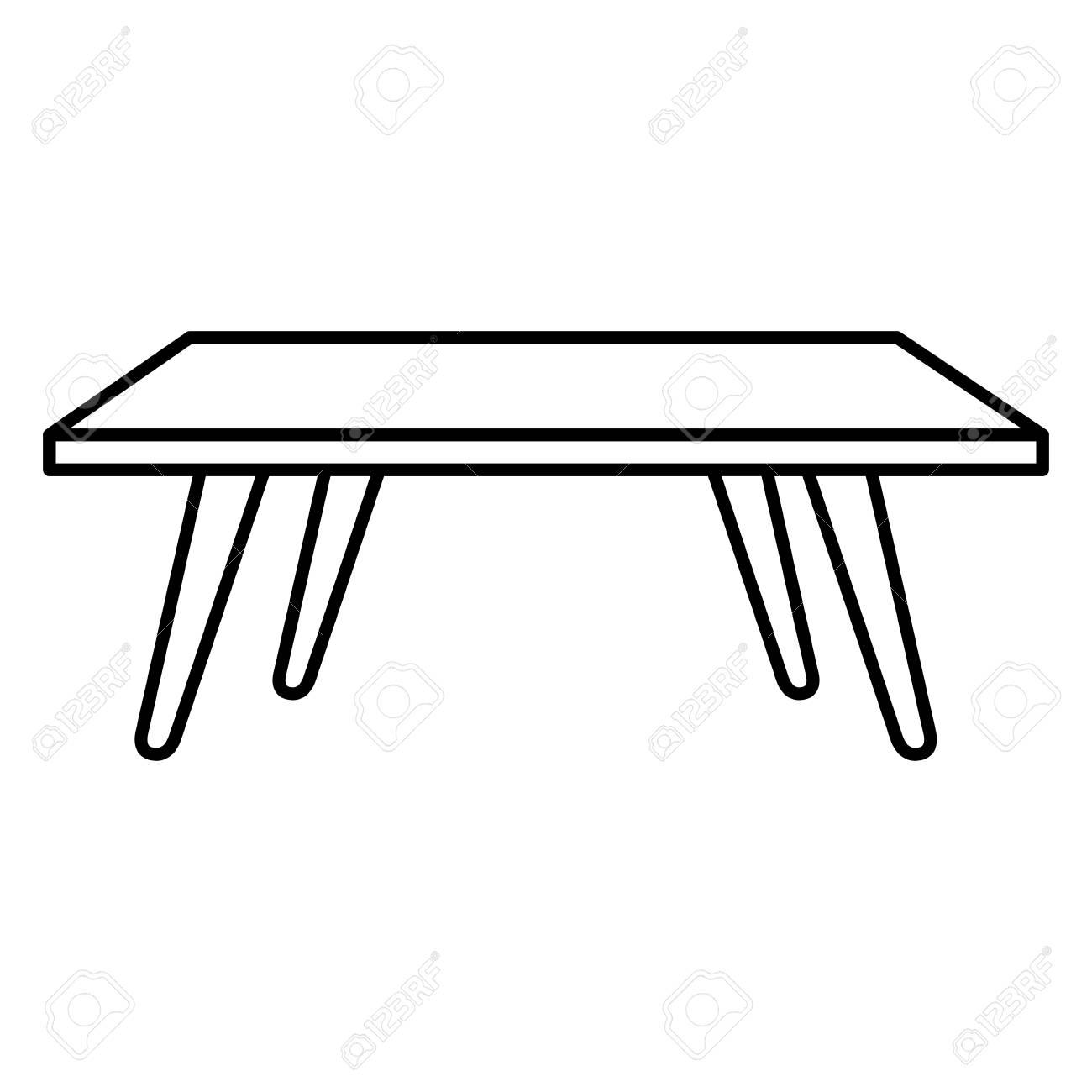 Living Room Center Table Vector Illustration Design Royalty Free ...