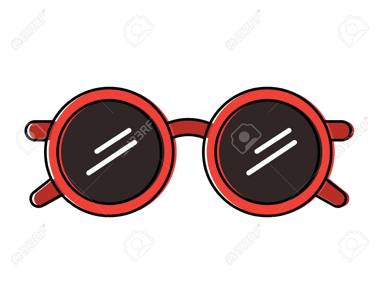 e8cb5ce1f194 round glasses fashion accessory trendy vector illustration Stock Vector -  95586788