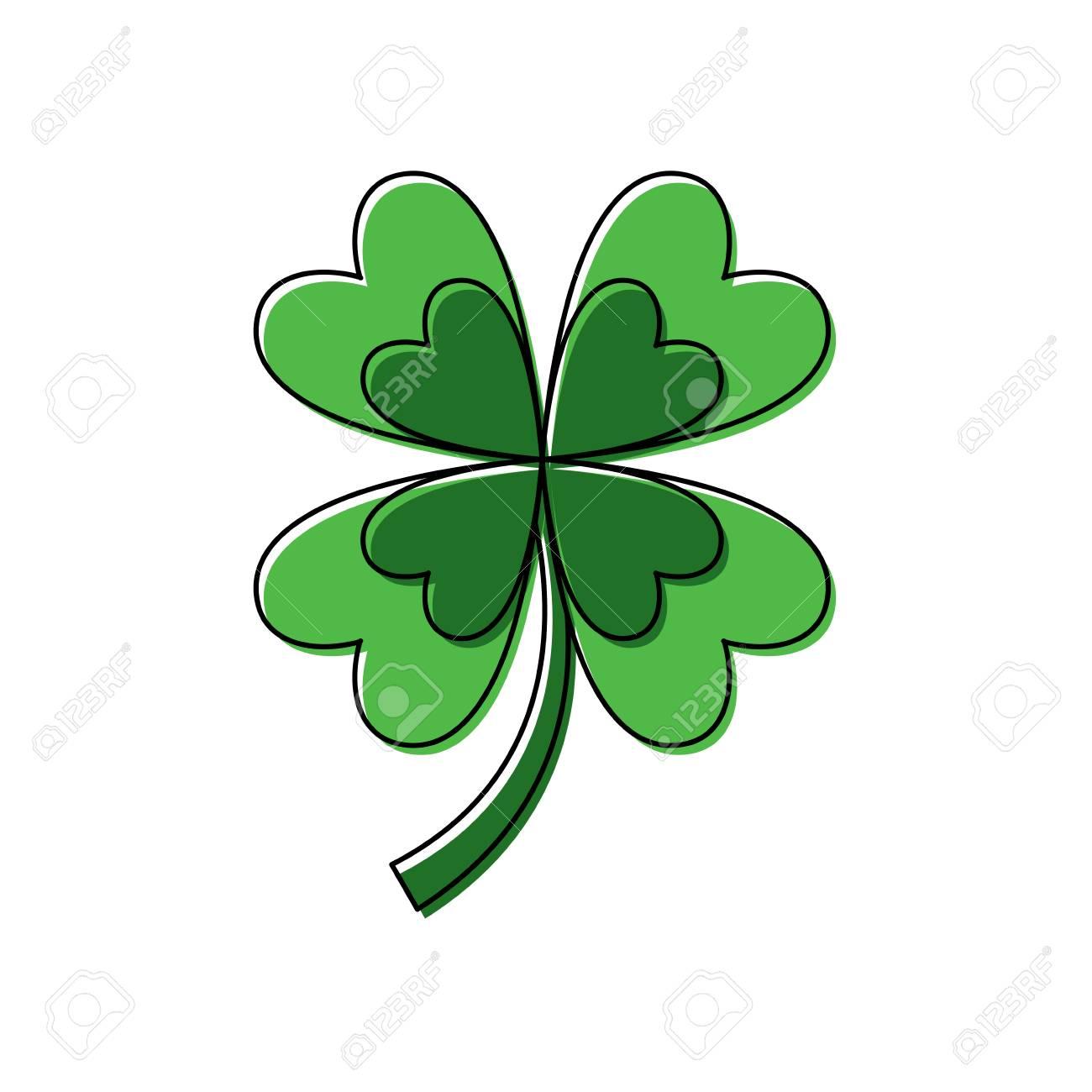 four leaf clover good luck symbol vector illustration - 95714780