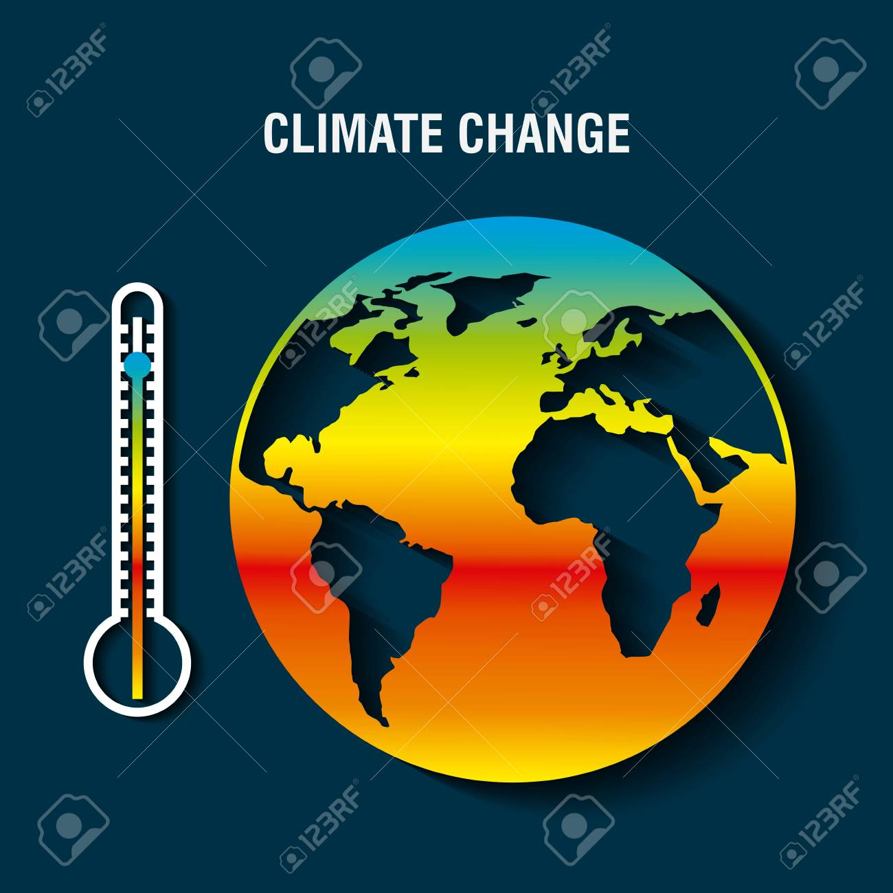 planet earth sick with thermometer warming concept vector illustration - 95908455