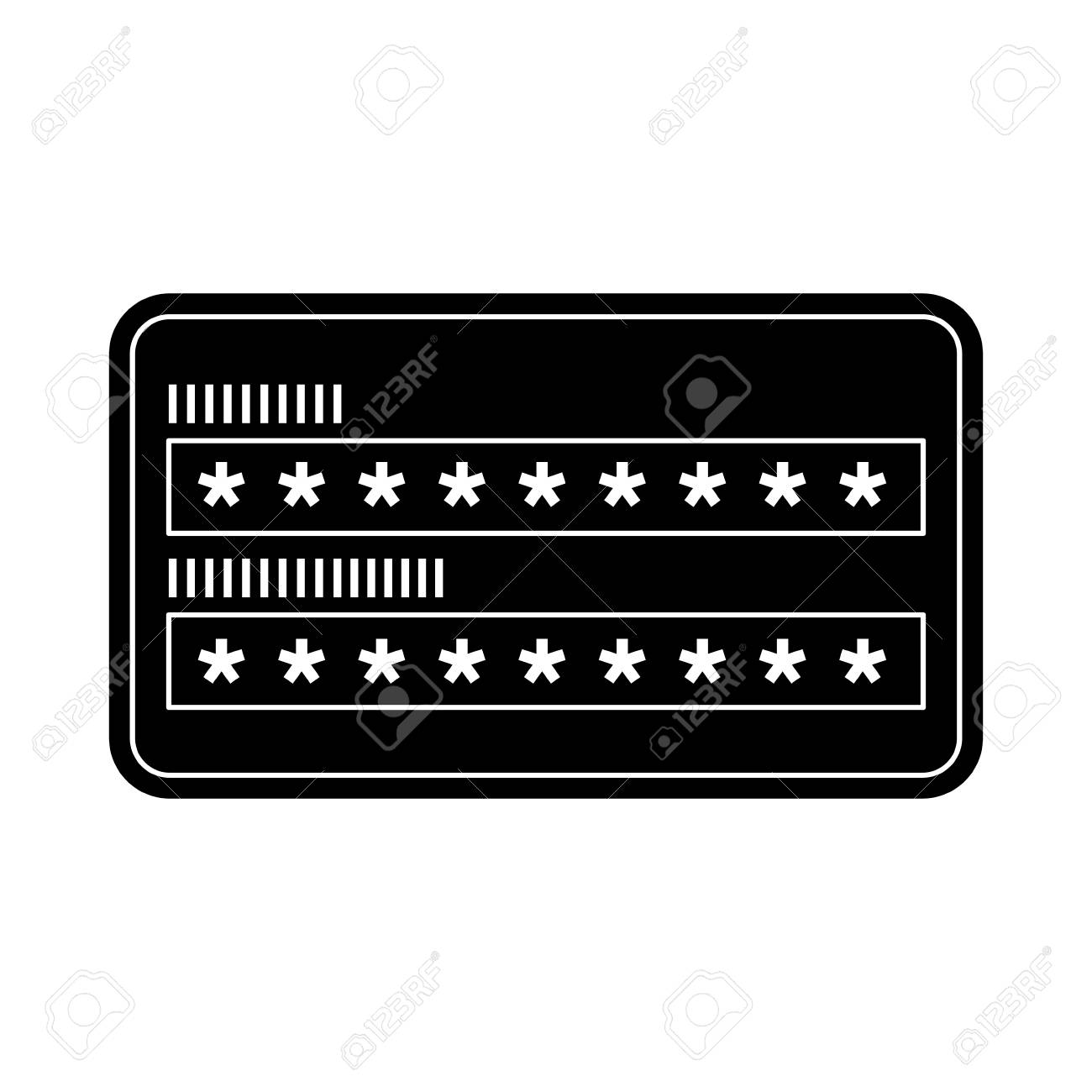 123Rf Password security access password login protection vector illustration