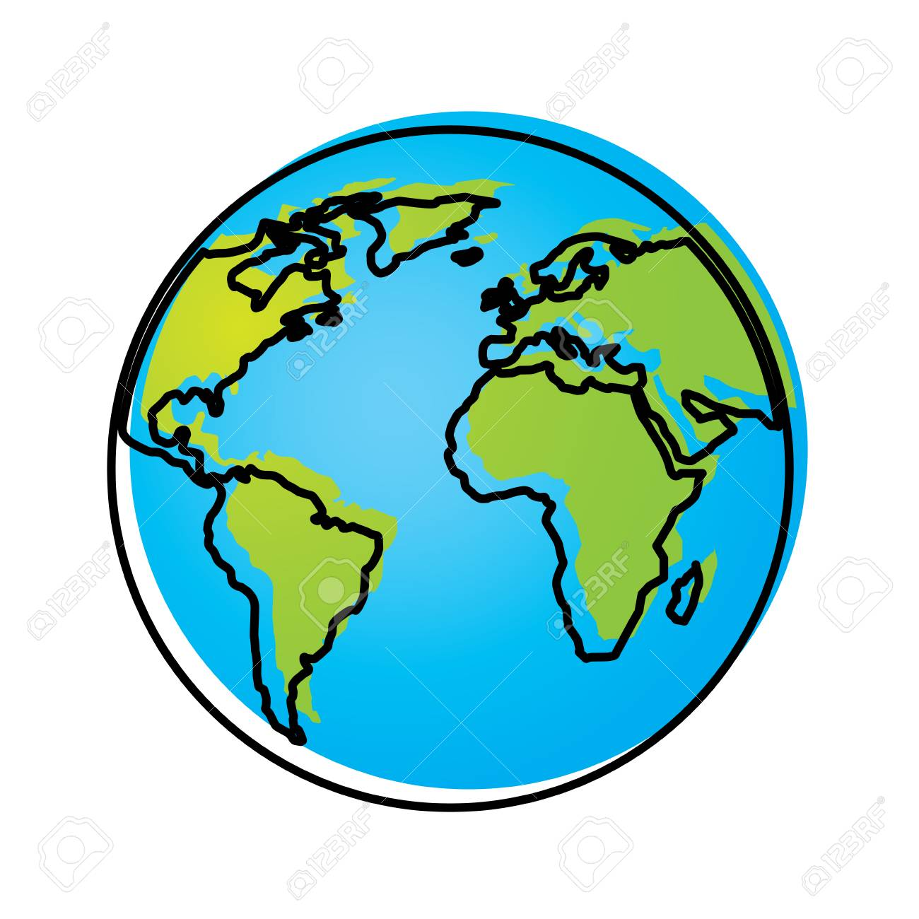 Globus Karte.Stock Photo