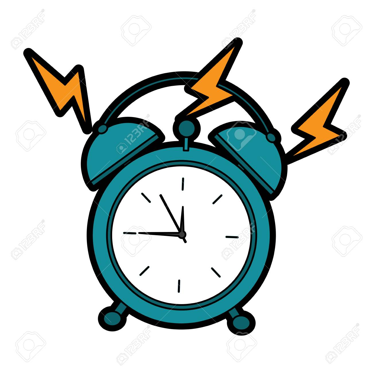 Alarm Clock Ringing Icon Image Vector Illustration Design Royalty Free Cliparts Vectors And Stock Illustration Image 96065952