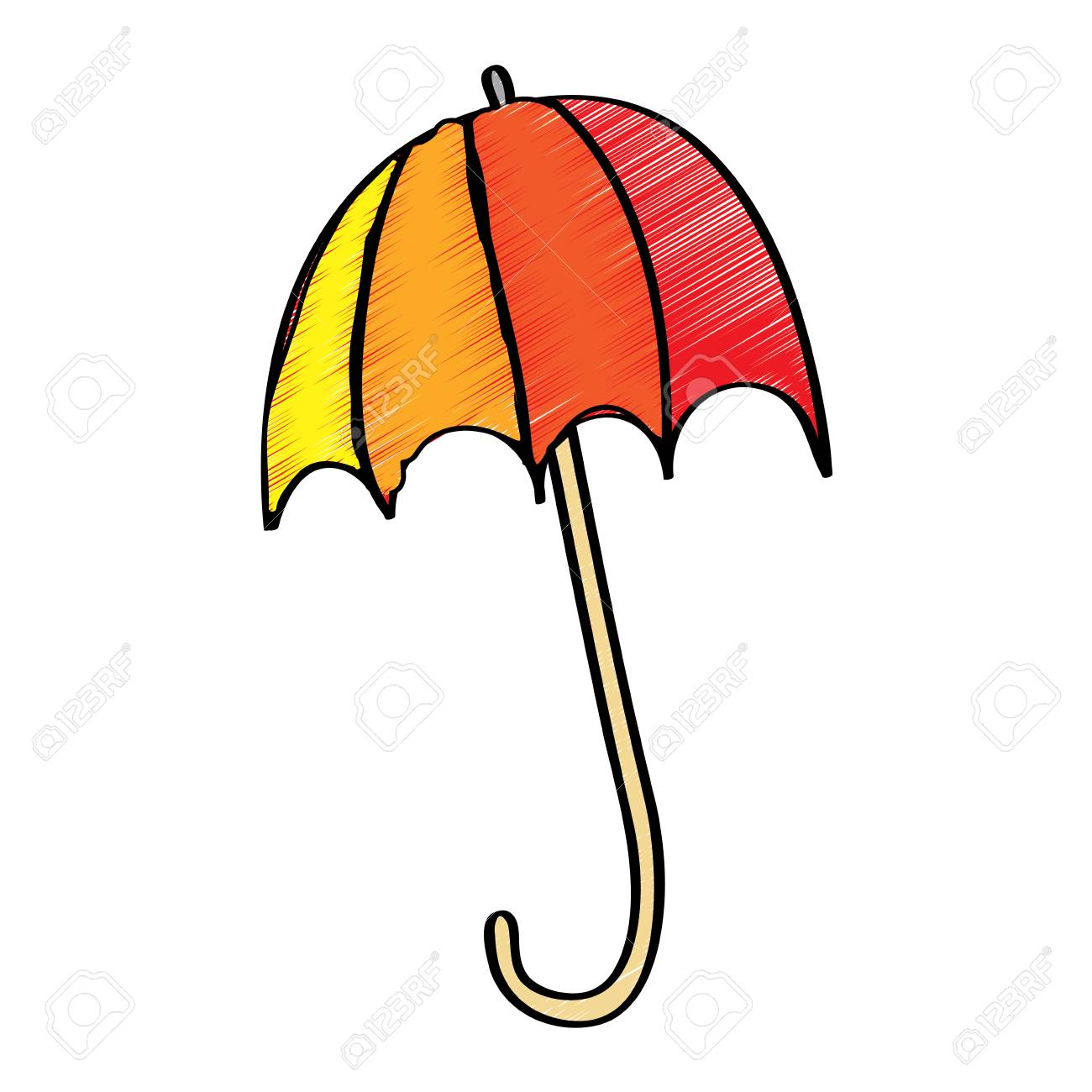 Colored Open Umbrella Protection Climate Season Vector Illustration Royalty Free Cliparts Vectors And Stock Illustration Image 96070769