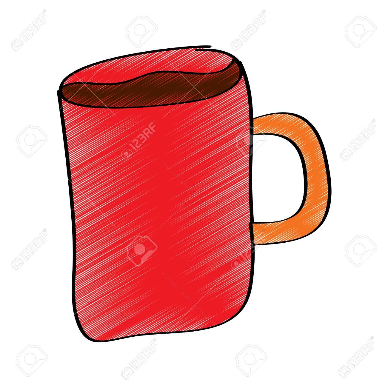 Cartoon Coffee Mug Drink Beverage Vector Illustration Drawing Royalty Free Cliparts Vectors And Stock Illustration Image 96072199