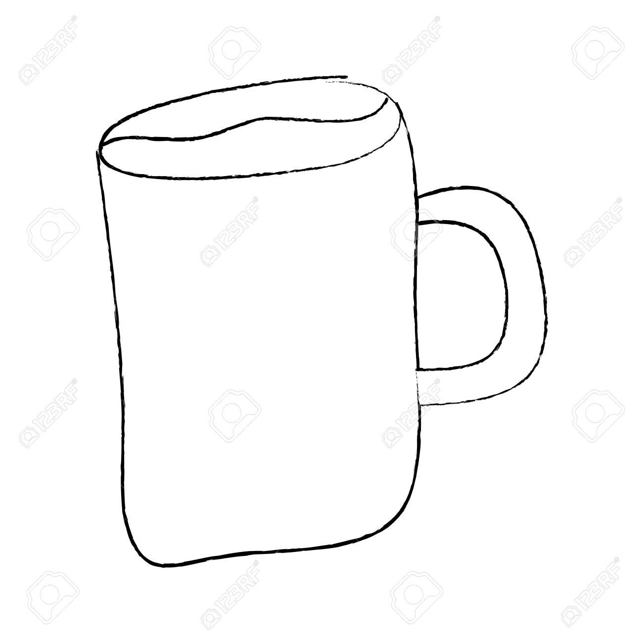 Cartoon Coffee Mug Drink Beverage Vector Illustration Sketch Royalty Free Cliparts Vectors And Stock Illustration Image 96072255