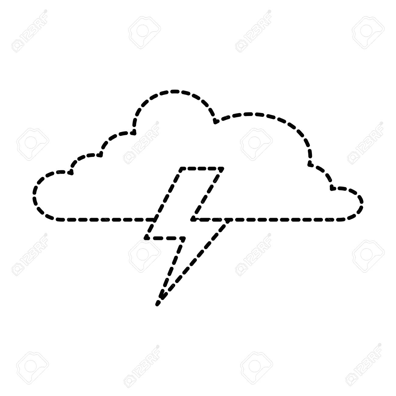 cloud weather with thunder vector illustration design royalty free cliparts vectors and stock illustration image 96272338 123rf com