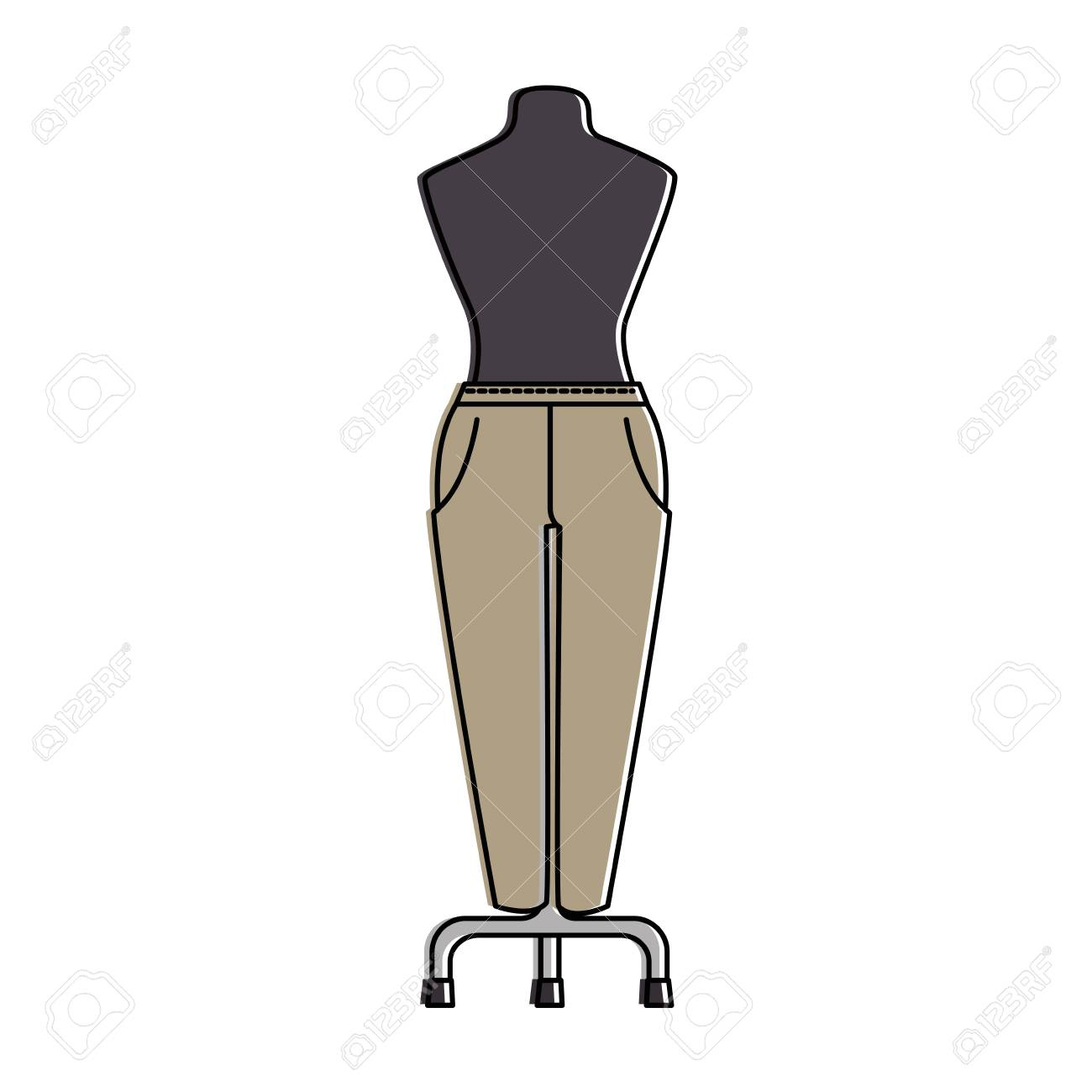 Pantalones Elegantes Para Mujeres En Maniqui Diseno De Ilustracion Vectorial Ilustraciones Vectoriales Clip Art Vectorizado Libre De Derechos Image 96428850