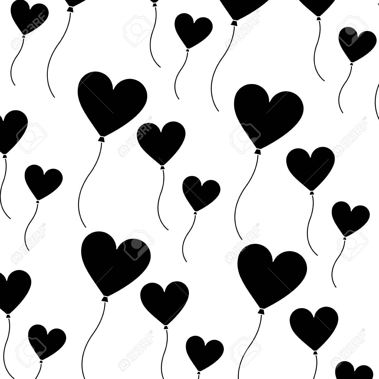 Heart Balloon Valentines Day Icon Image Vector Illustration Design
