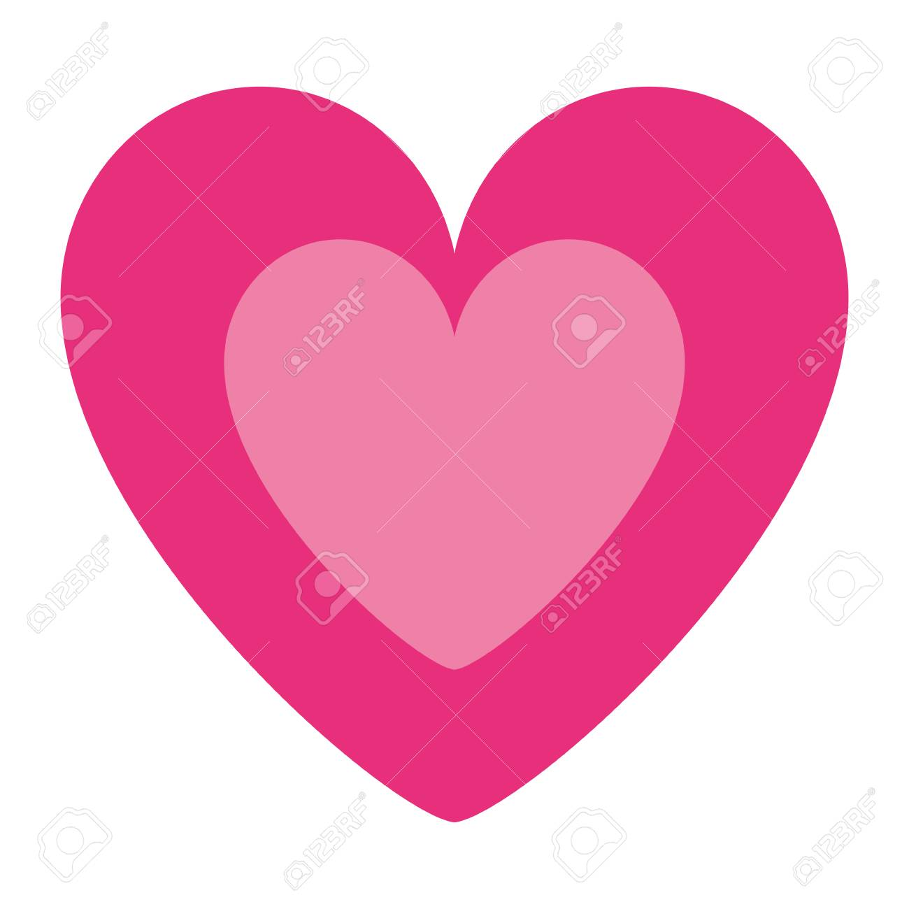 Cute Pink Heart In Love Decoration Vector Illustration Royalty Free